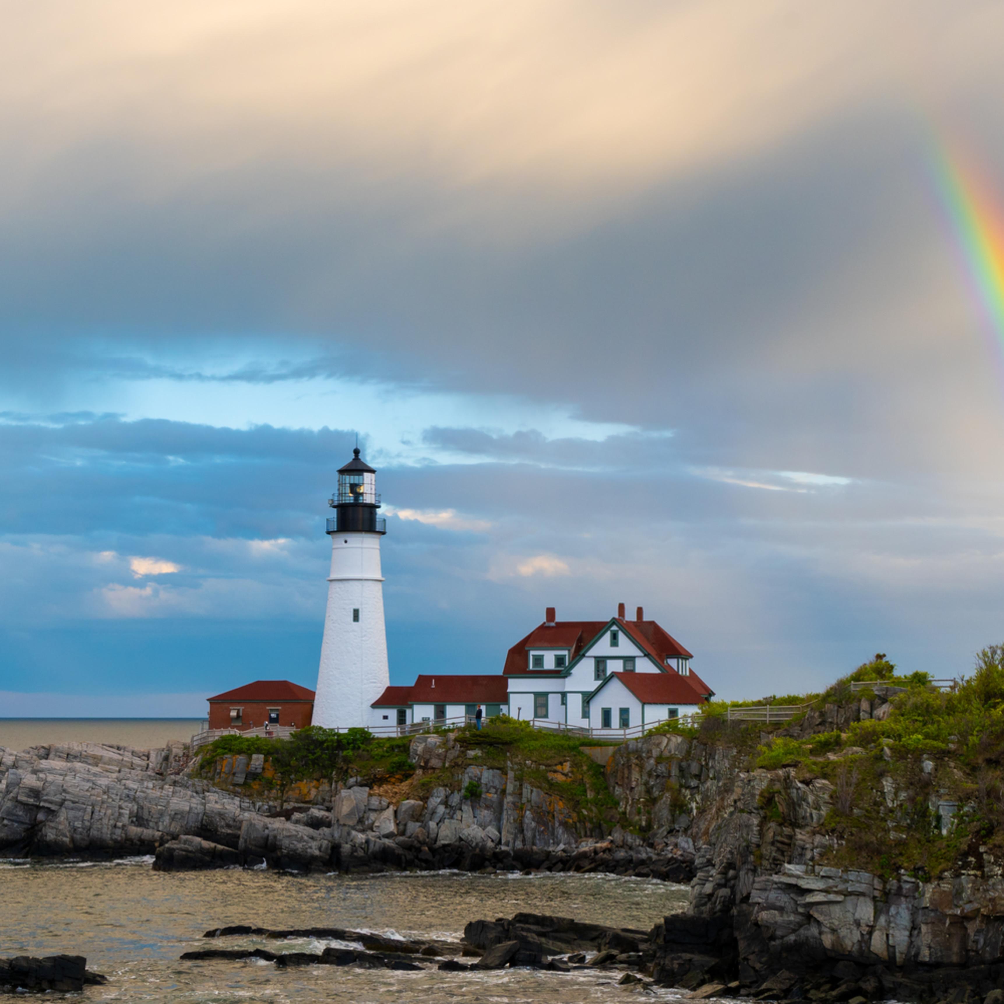 Rainbow over portland head light mp66dy