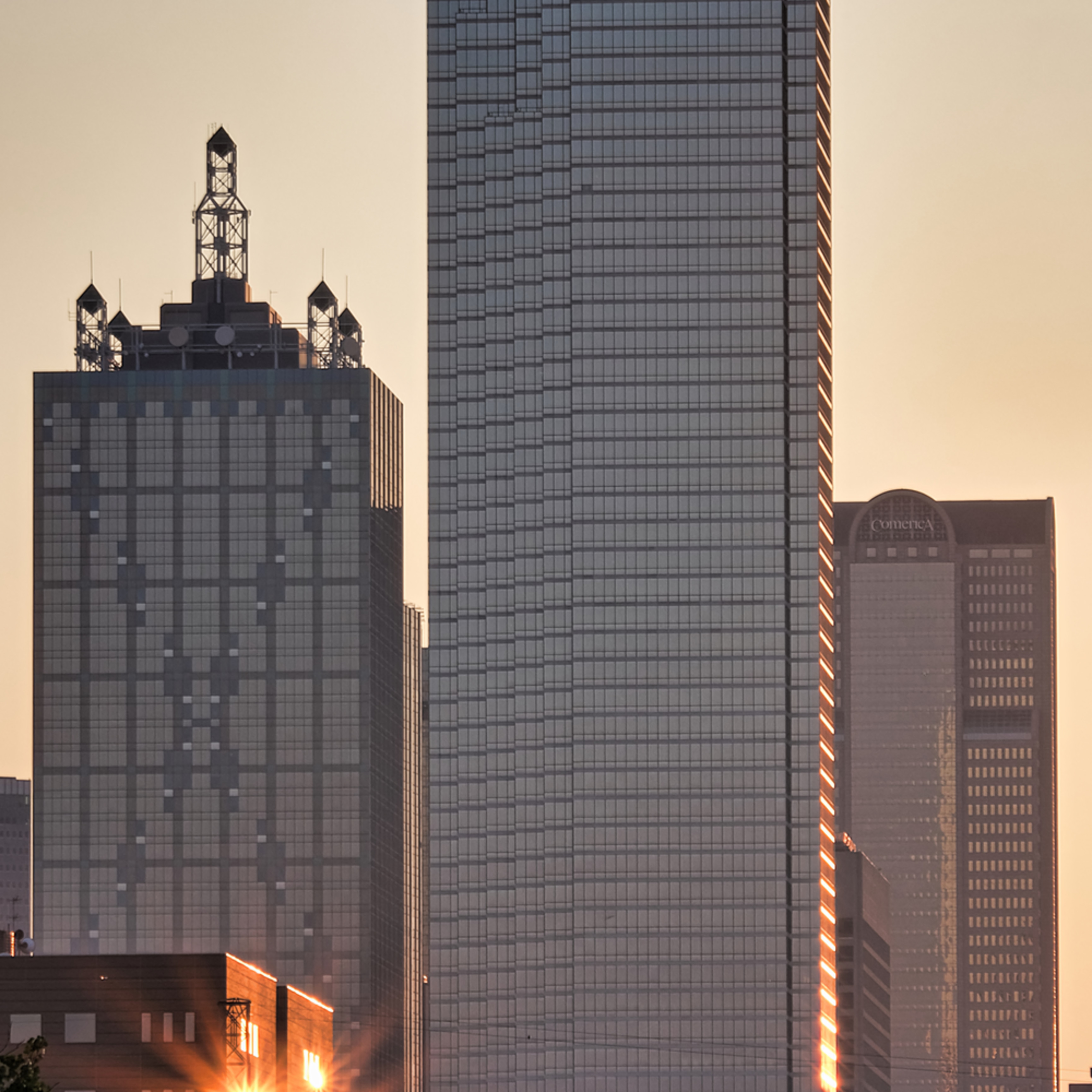 Dallas skyline at dawn 6 dnu5xk