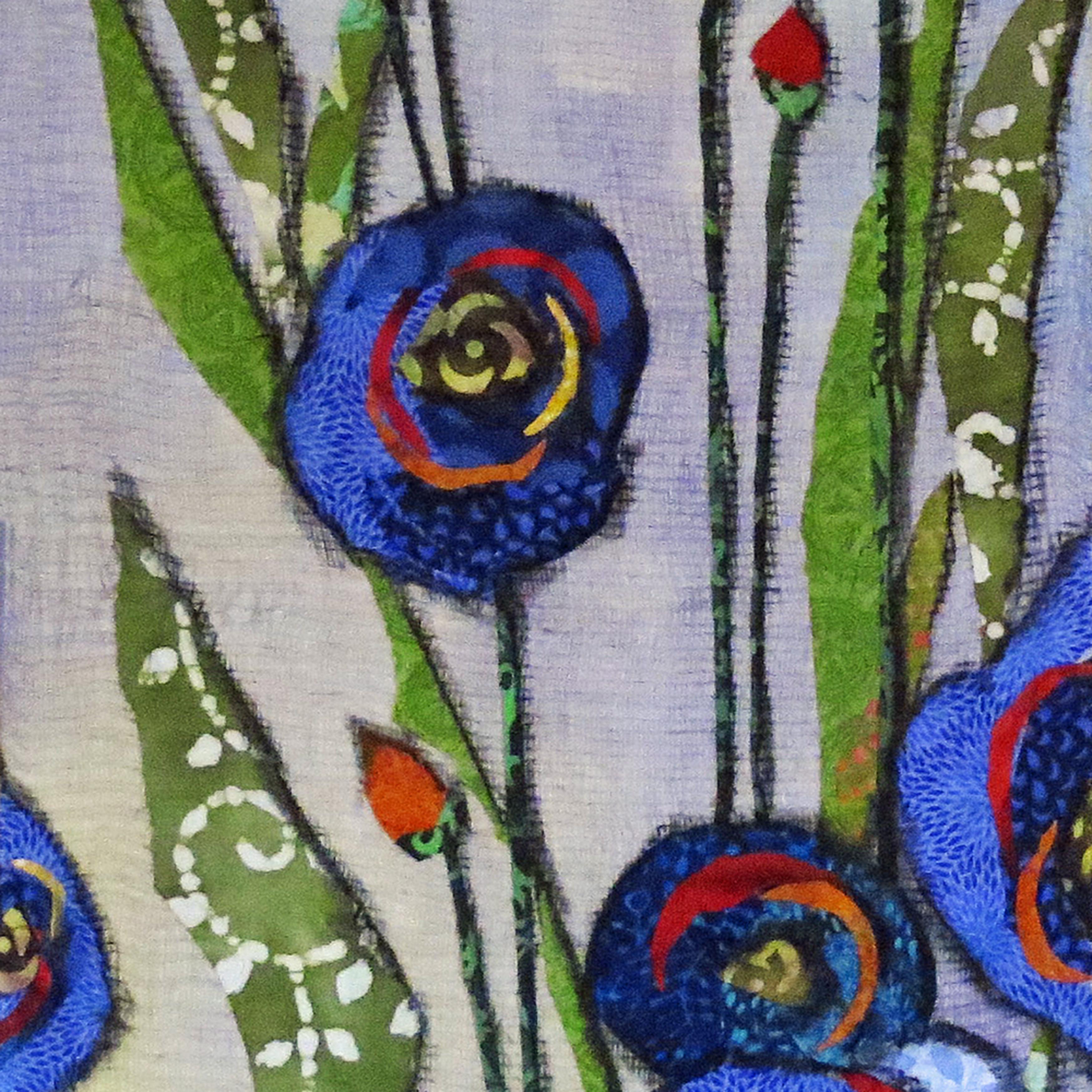 Garden blue flower asf print sbncfi