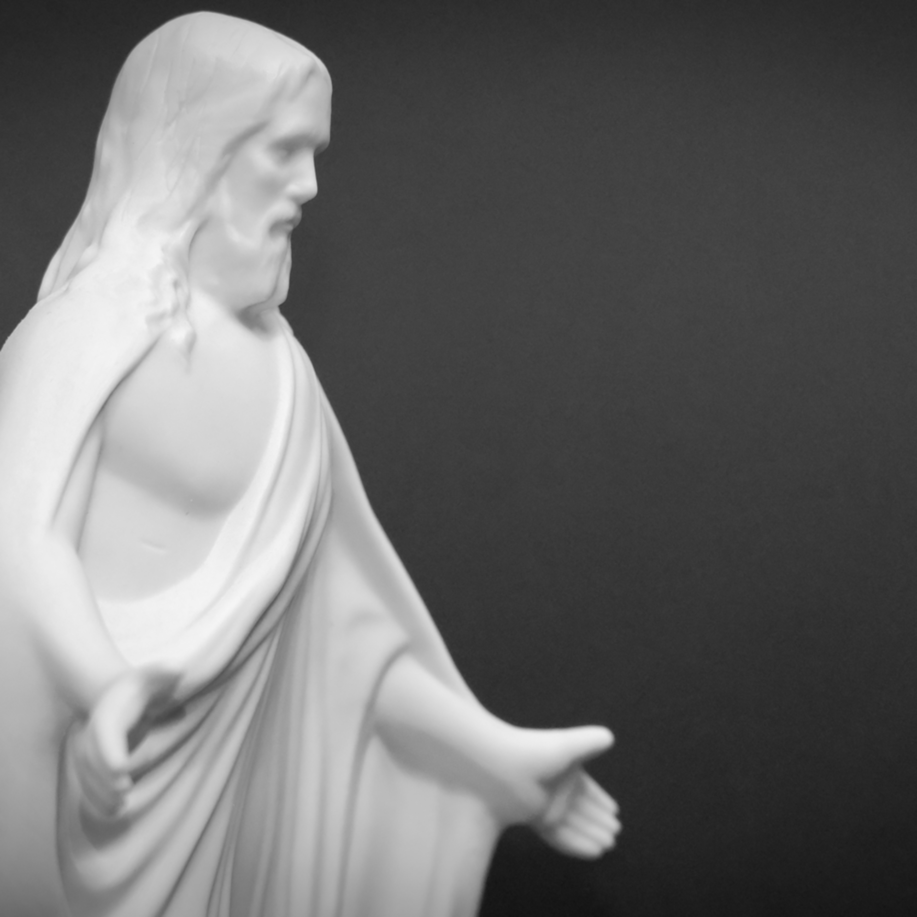 Black and white right side of jesus hnycs6