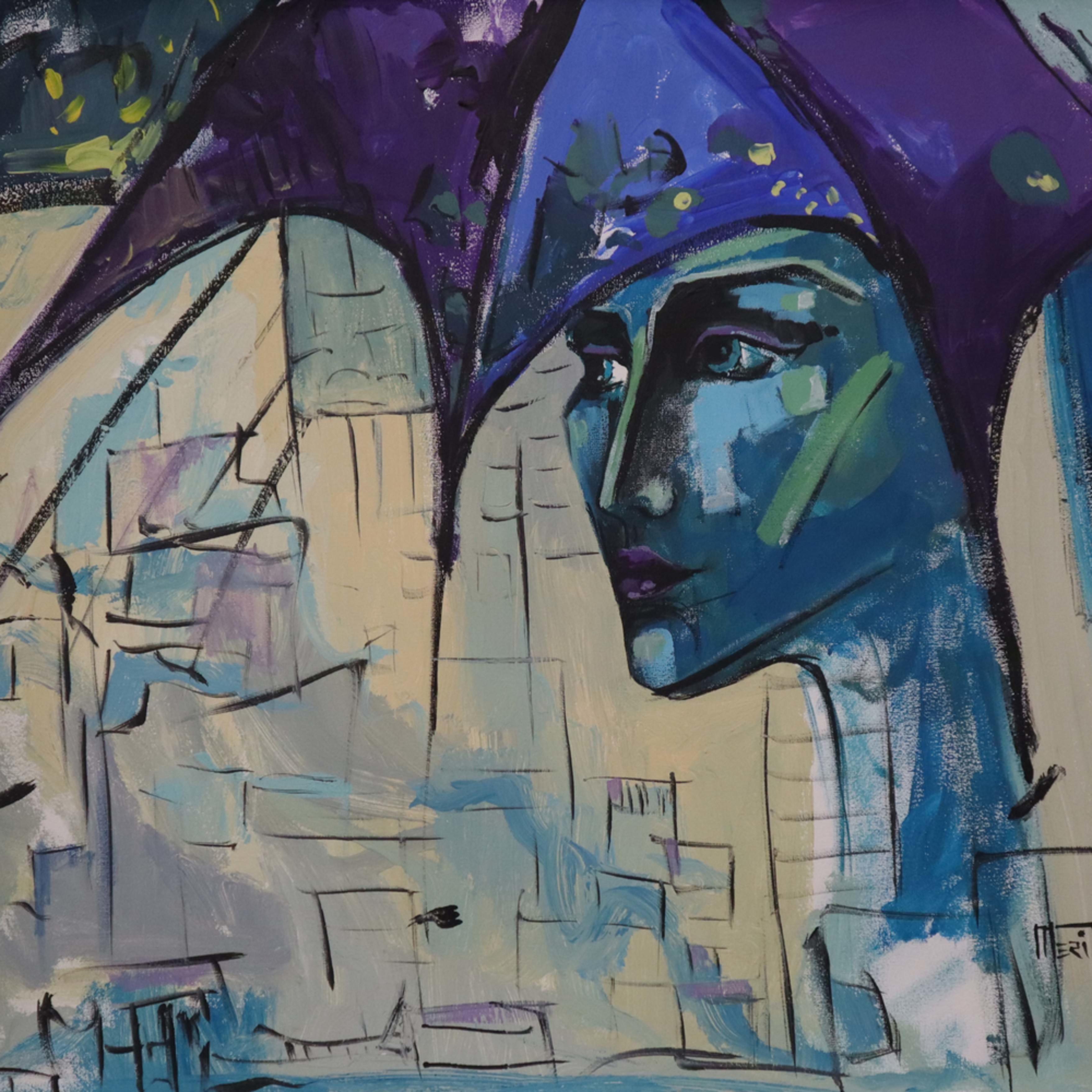 Purple portrait baokcp