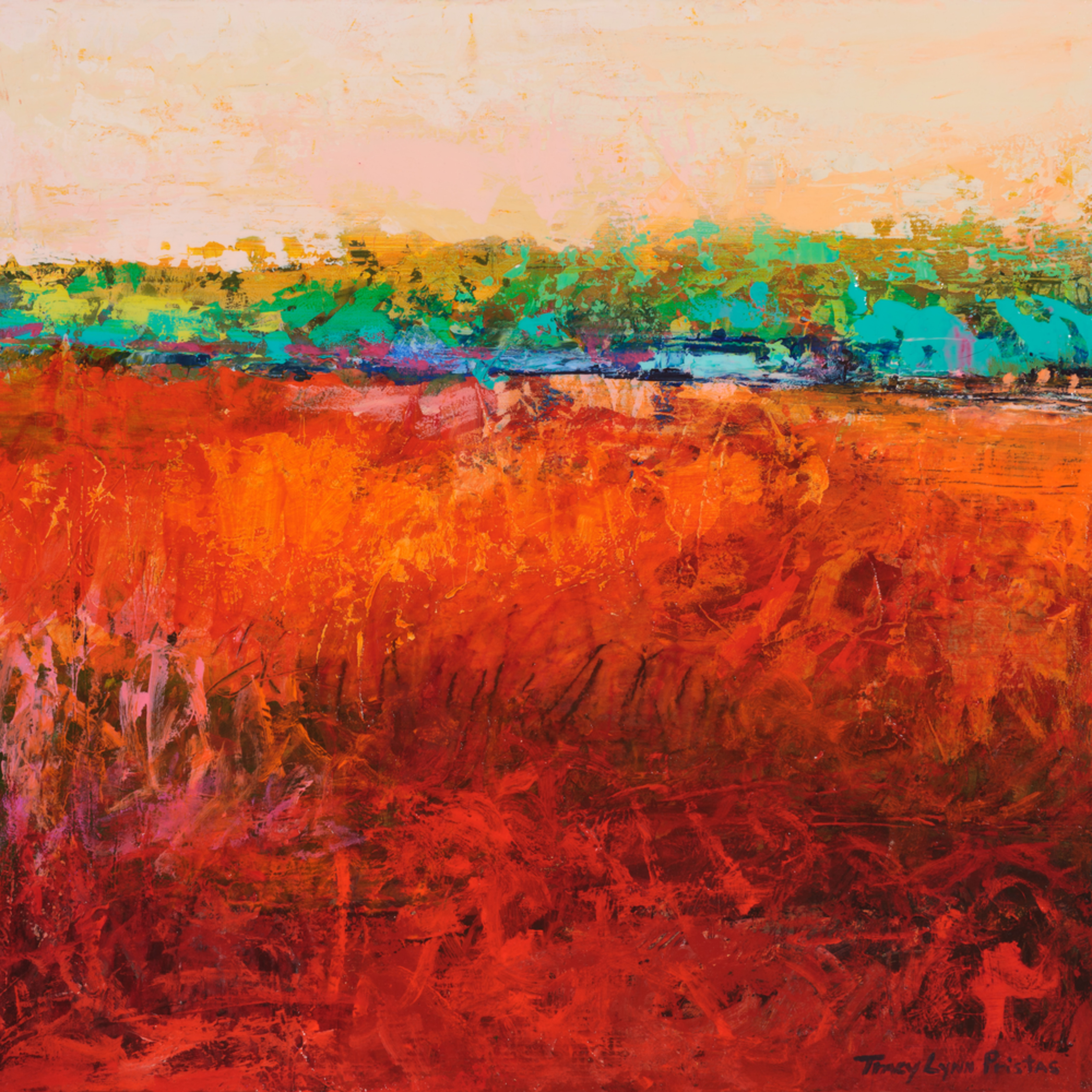 Tracy lynn pristas  abstract landscapes southwestern art  desert memories acrylic pastel on panel n3lalt