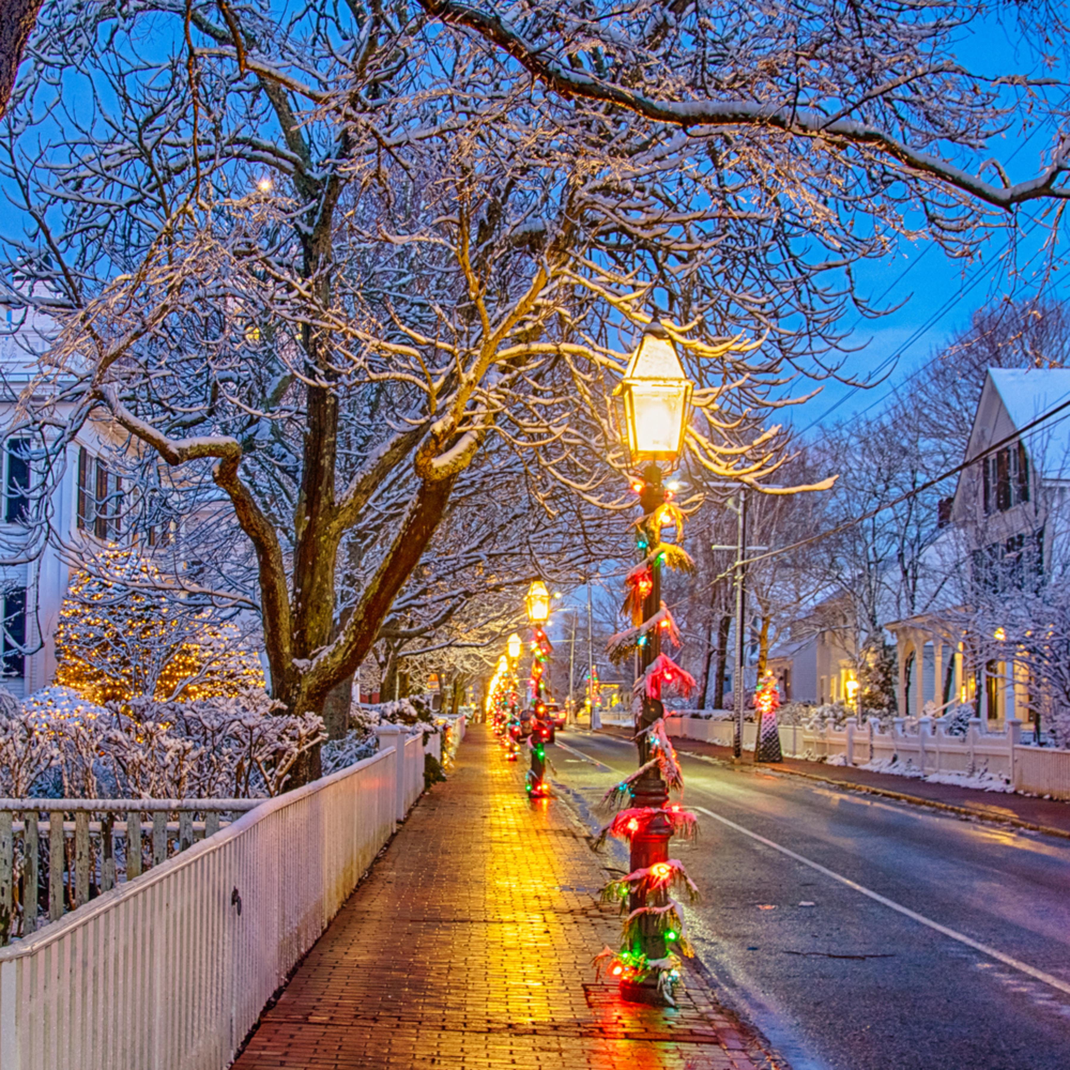 Edgartown main street snow cubsof