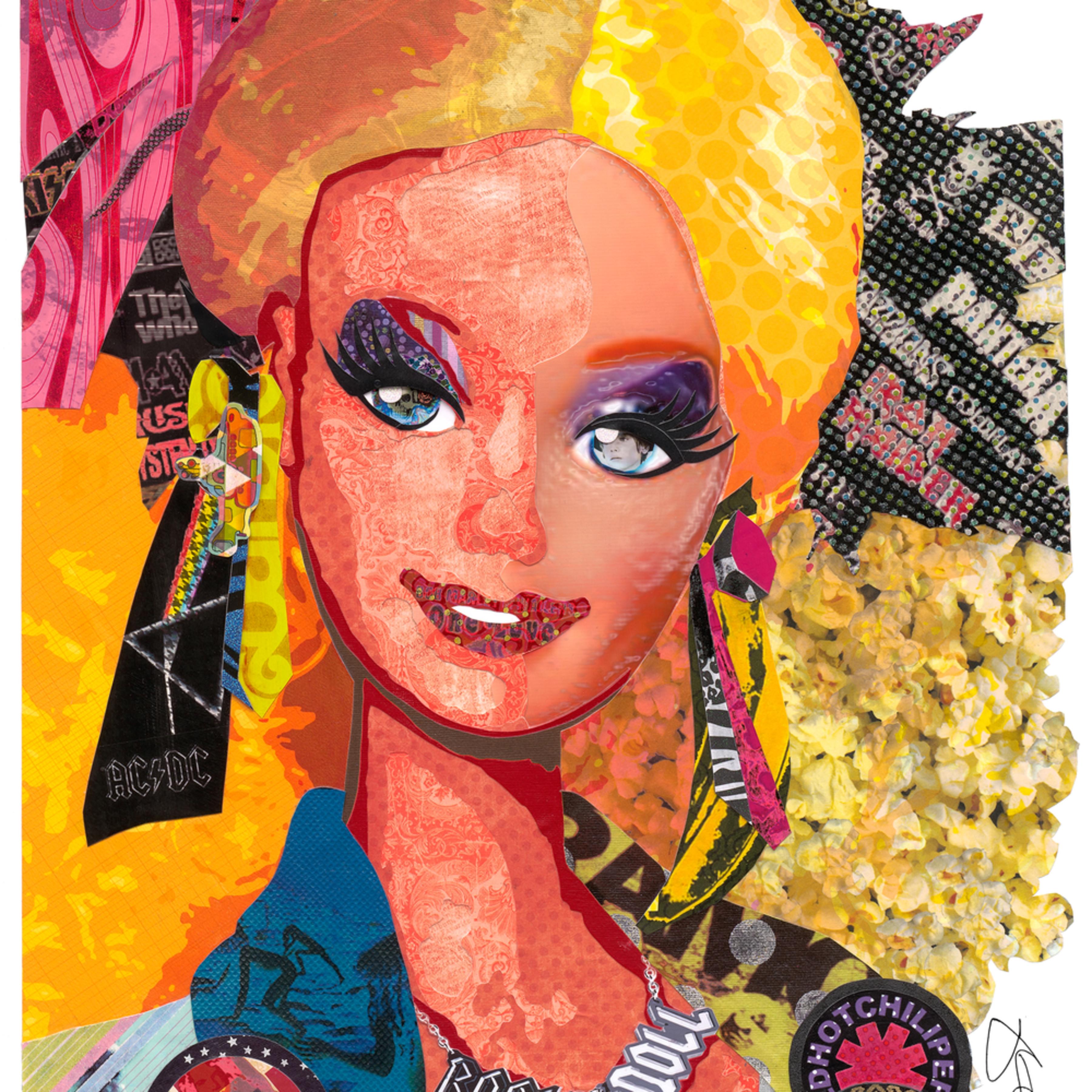 Barbie 12 x 16 signed t0ue67