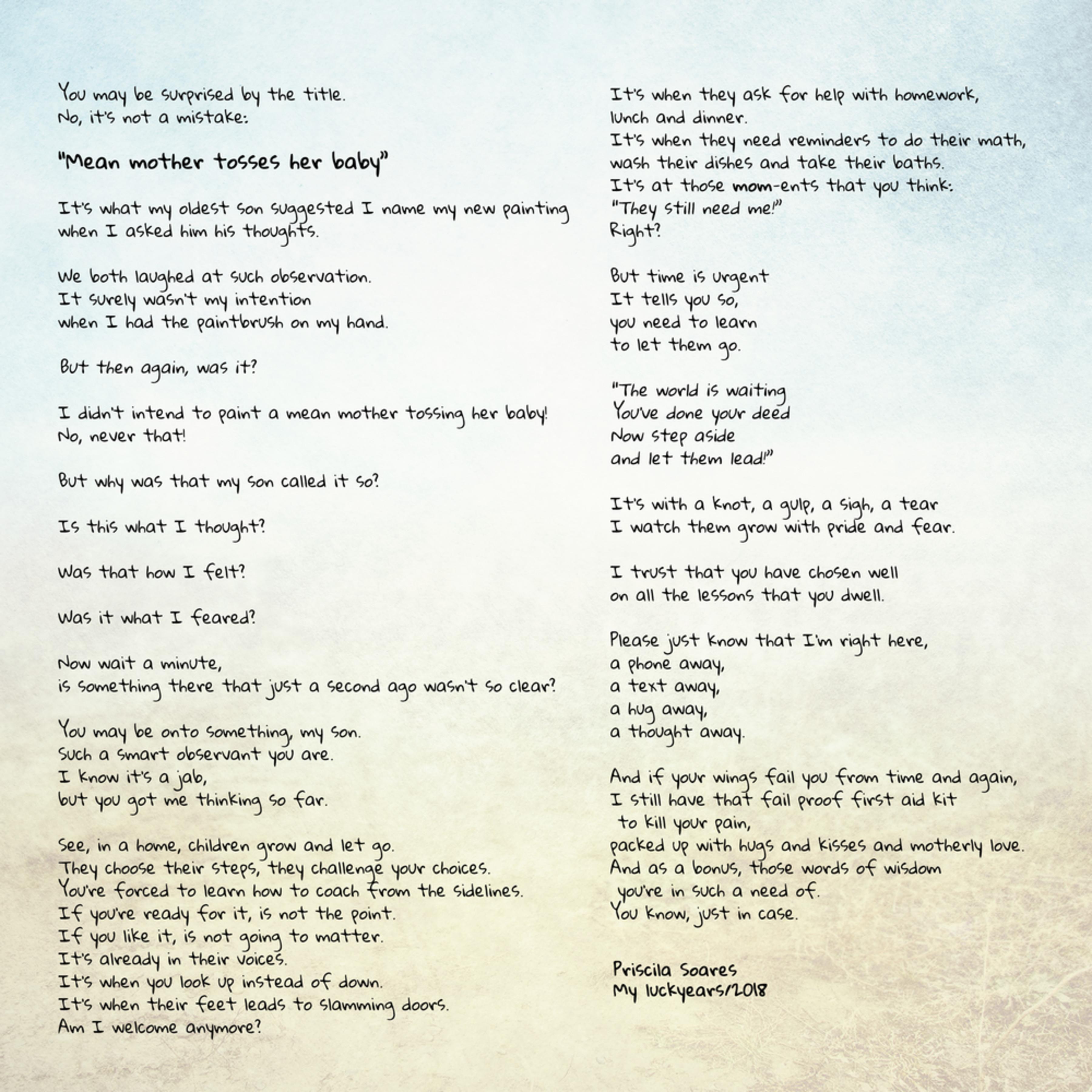 Mean mother poem en 12x12 xol9qg