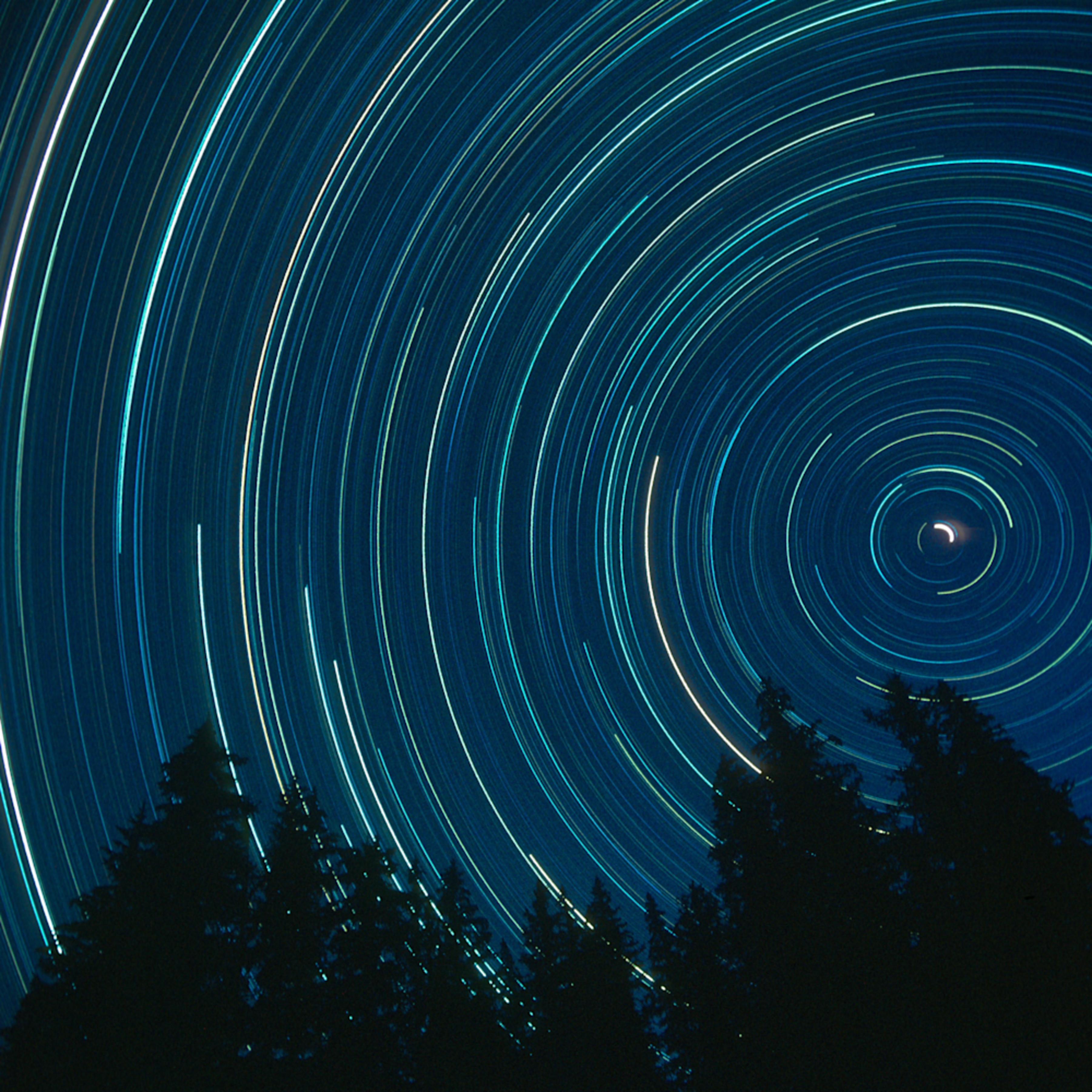 Star trails from mt. teewinot approach ridge mw0ctx