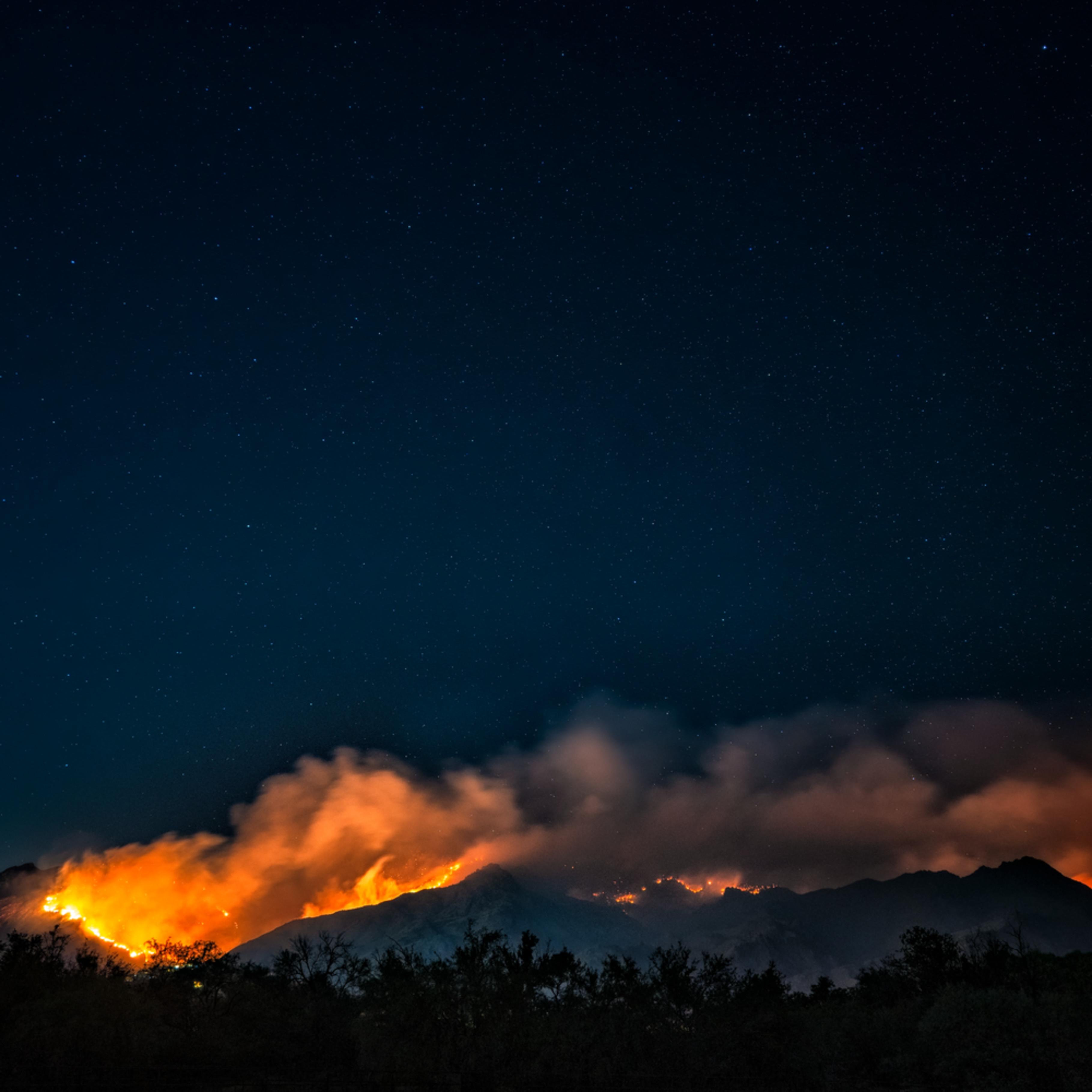 Ventana canyon burning uyuen1