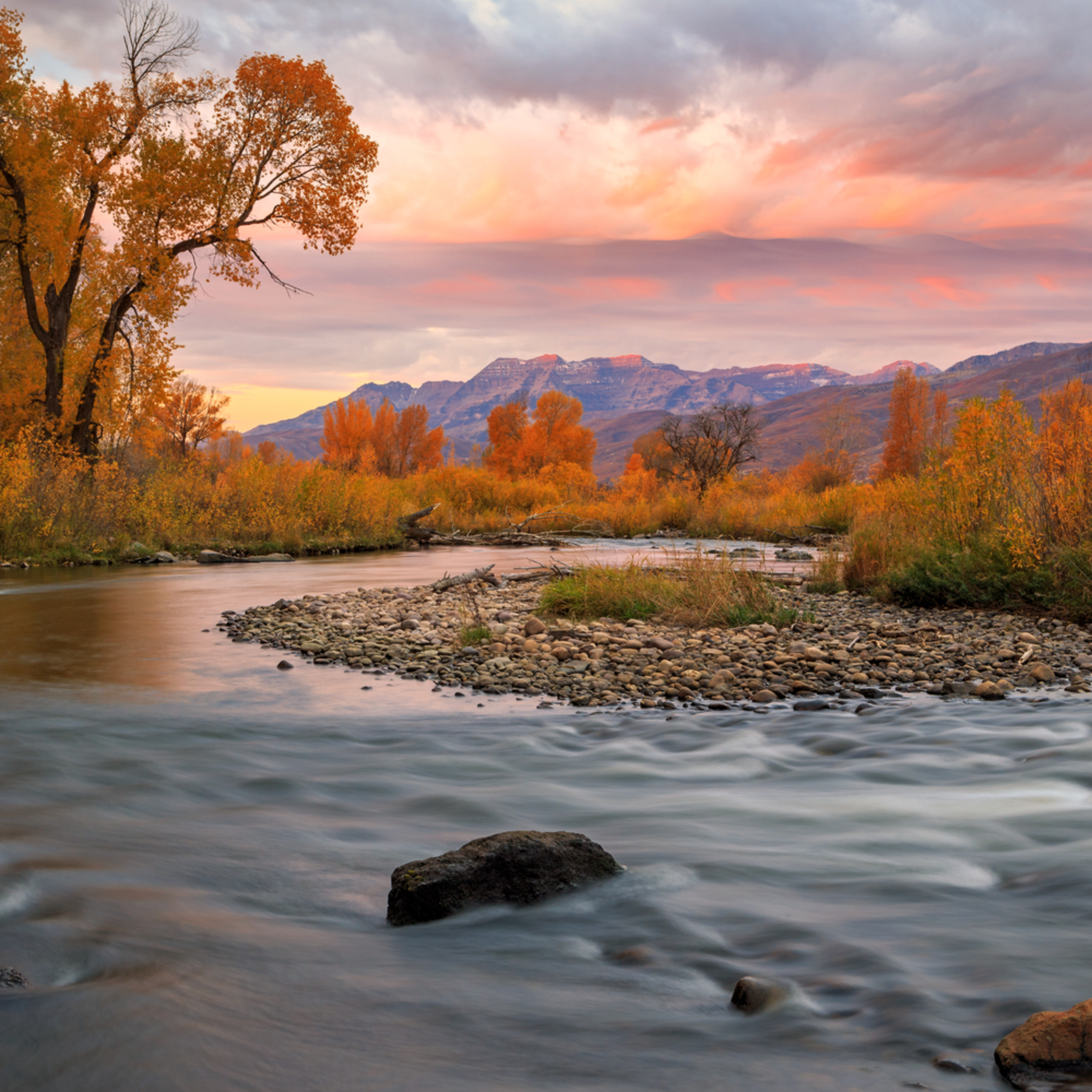 October sunrise at the provo river heber valley jwt1lh