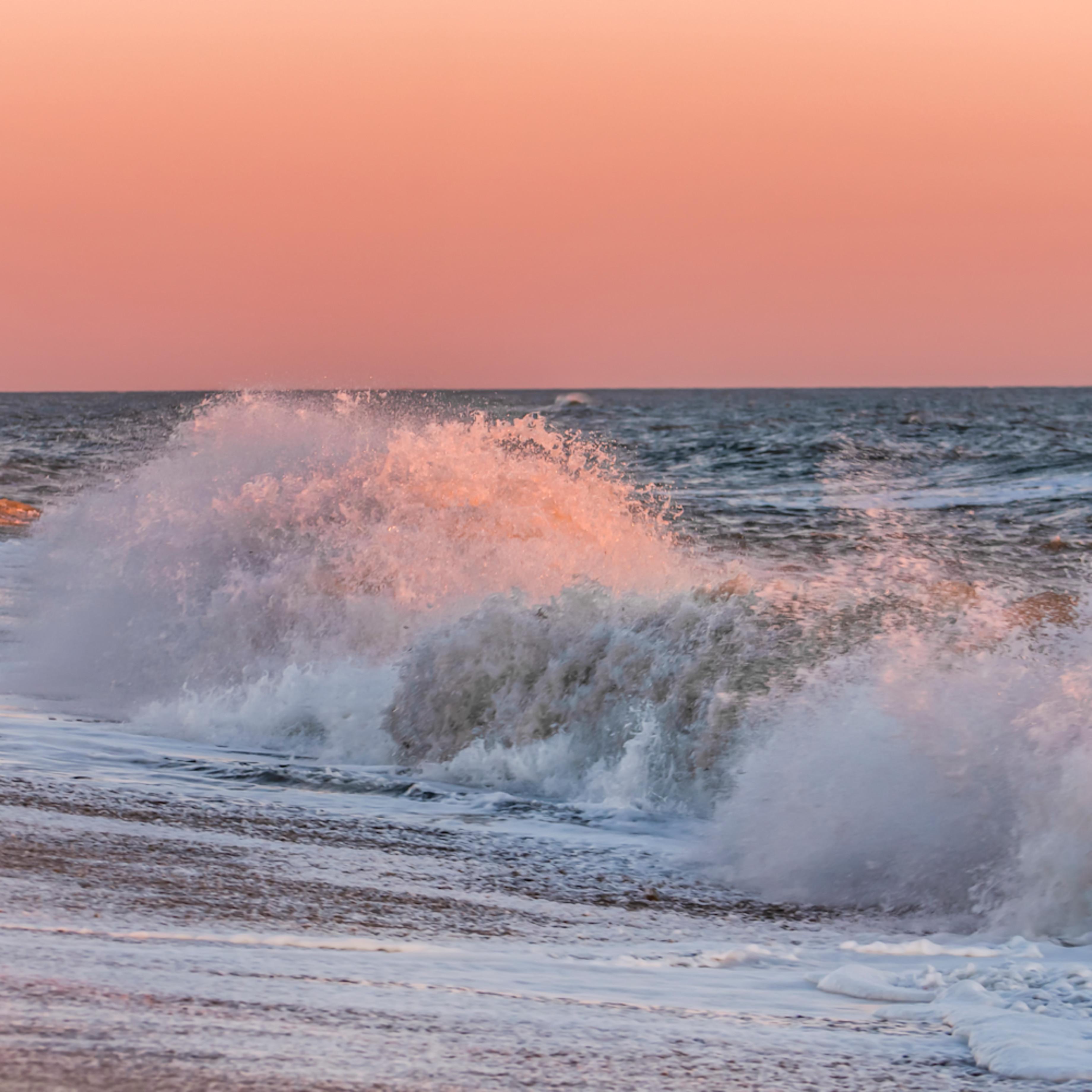 South beach winter crashing pink waves 1 bvnmcu