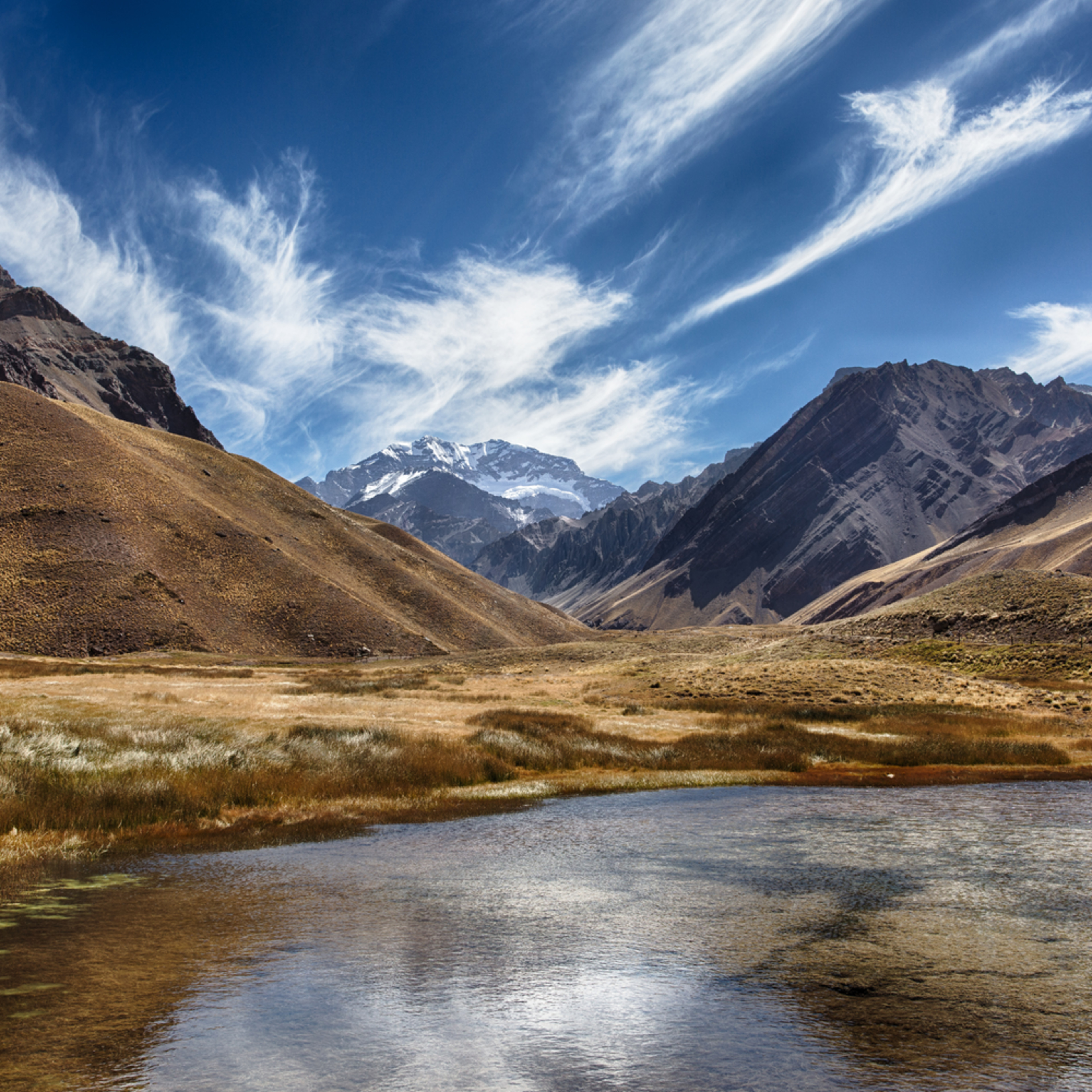 The approah to aconcagua in argentina f4jaap