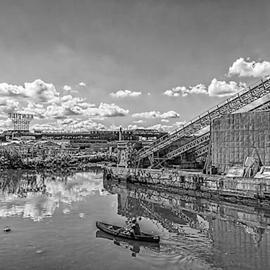 Rower on the gowanus canal d6cate