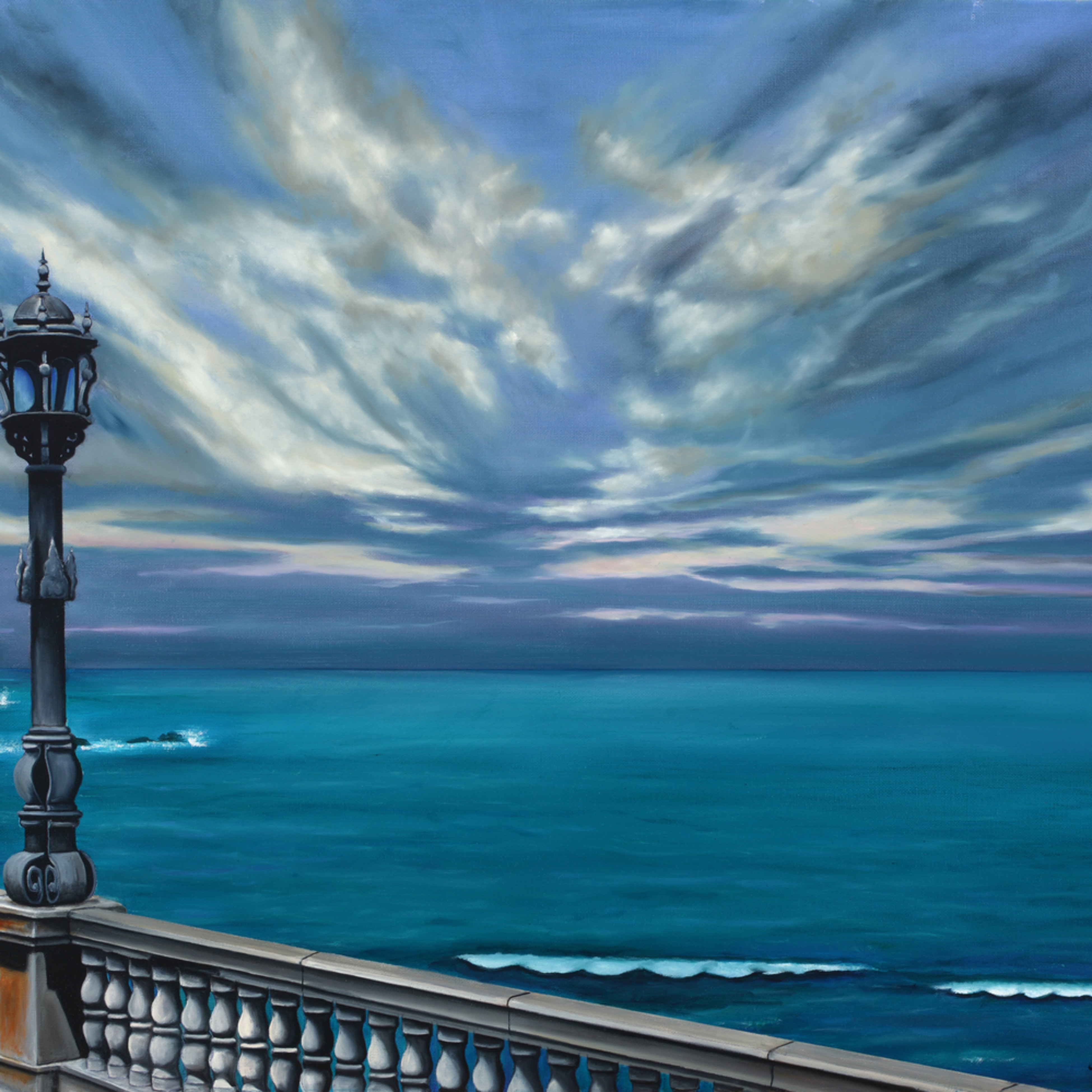 06  mediterranean sea walk oil on canvas by monica marquez gatica mmg art studio rdduw0