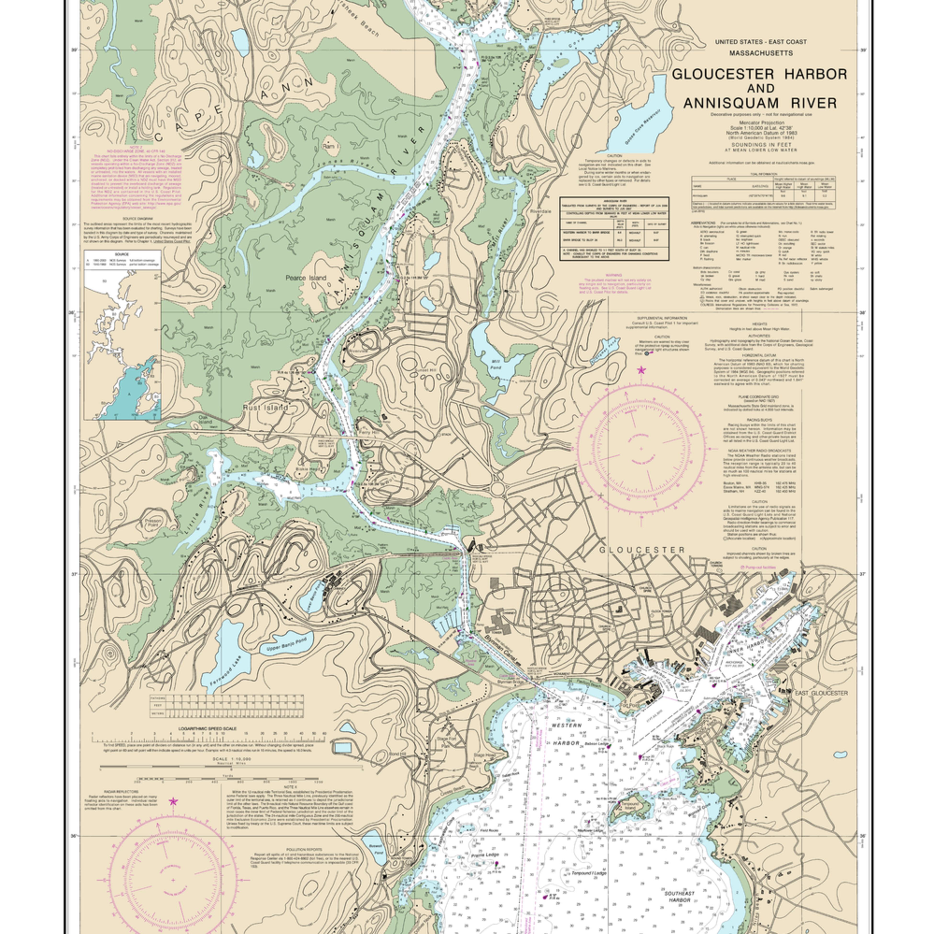 Nauticalmap 13281 gloucesterharbor anisquamriver j32e1a