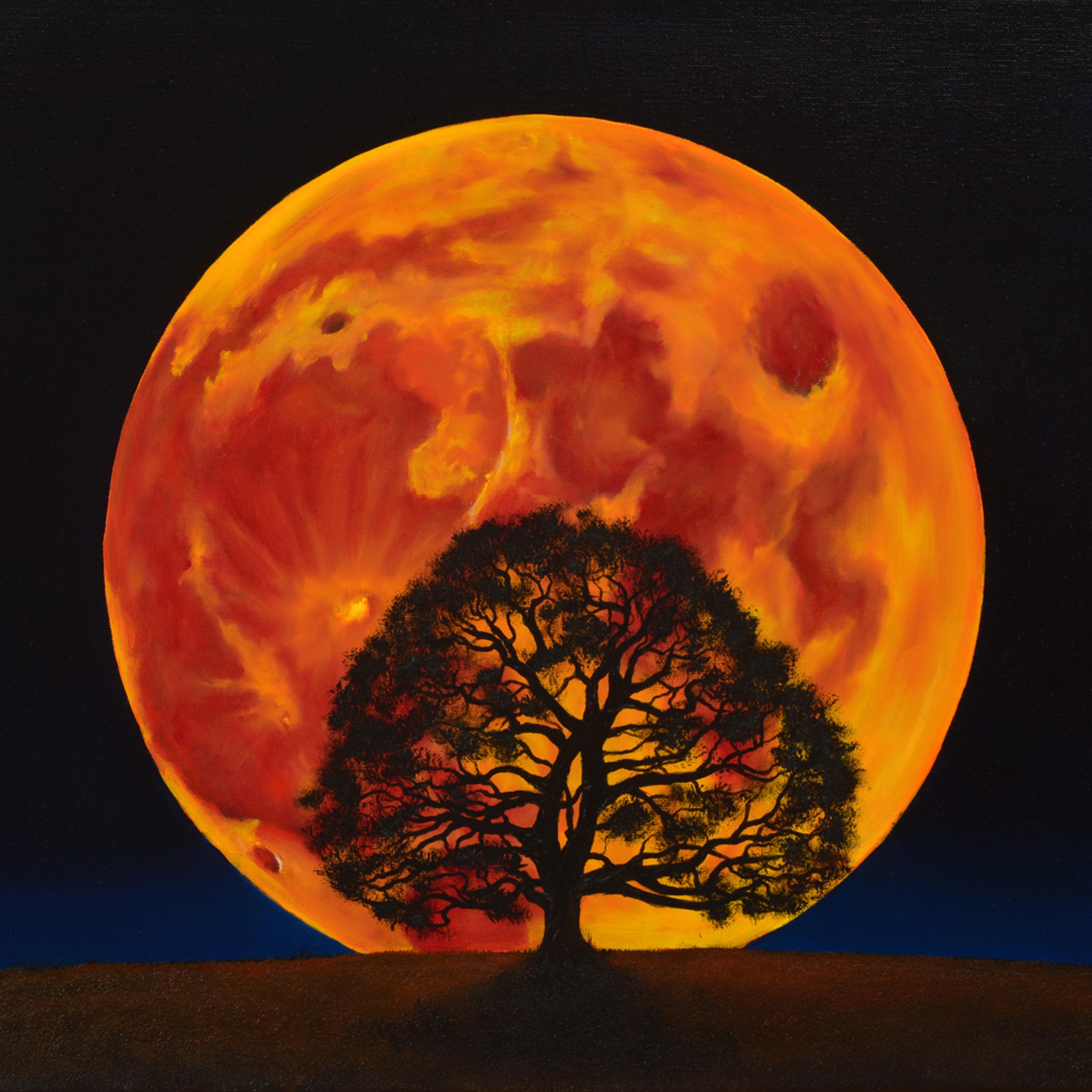 36  blood moon oil on canvas by monica marquez gatica mmg art studio dly72y
