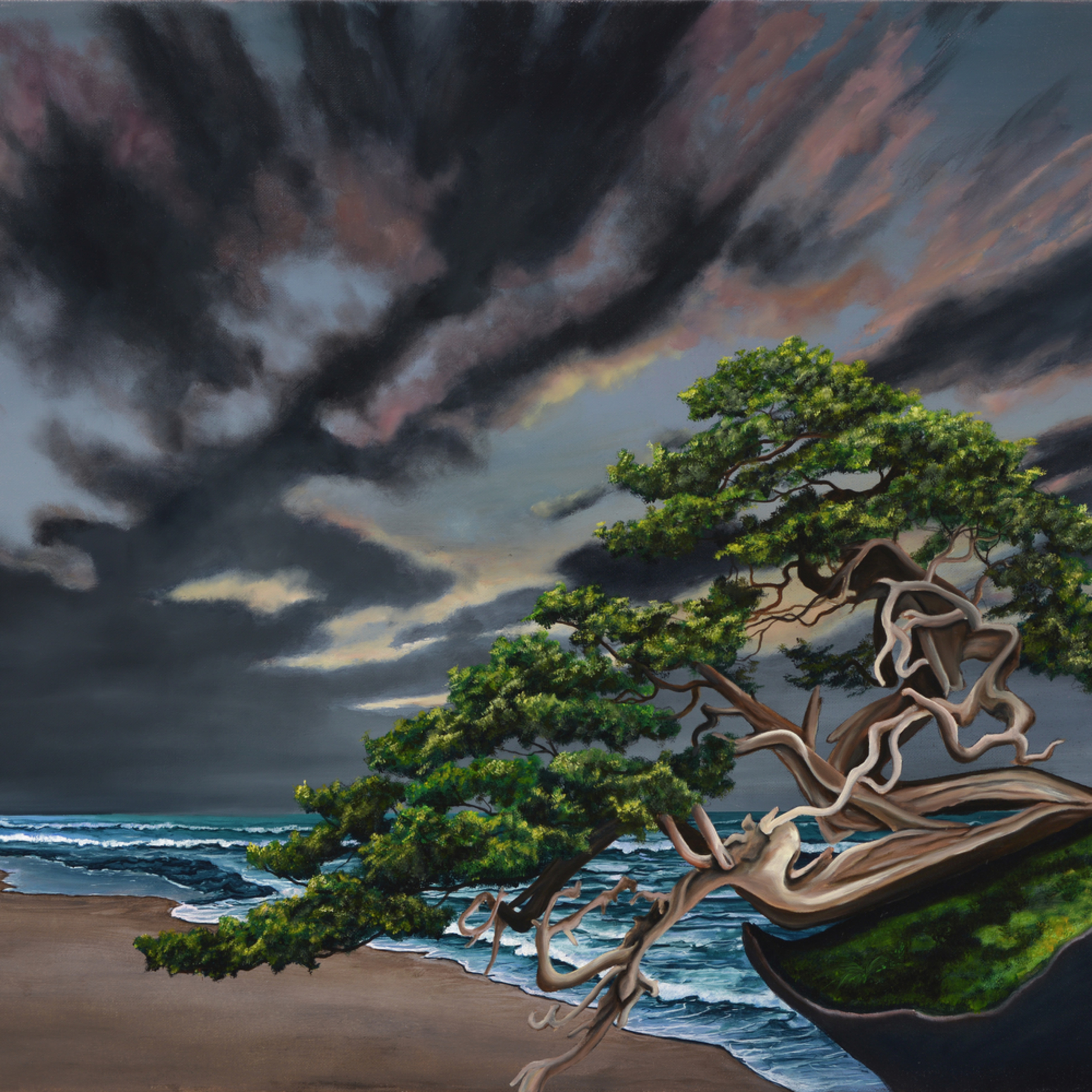 10  bonsai on the beach oil on canvas by monica marquez gatica mmg art studio fpduoc
