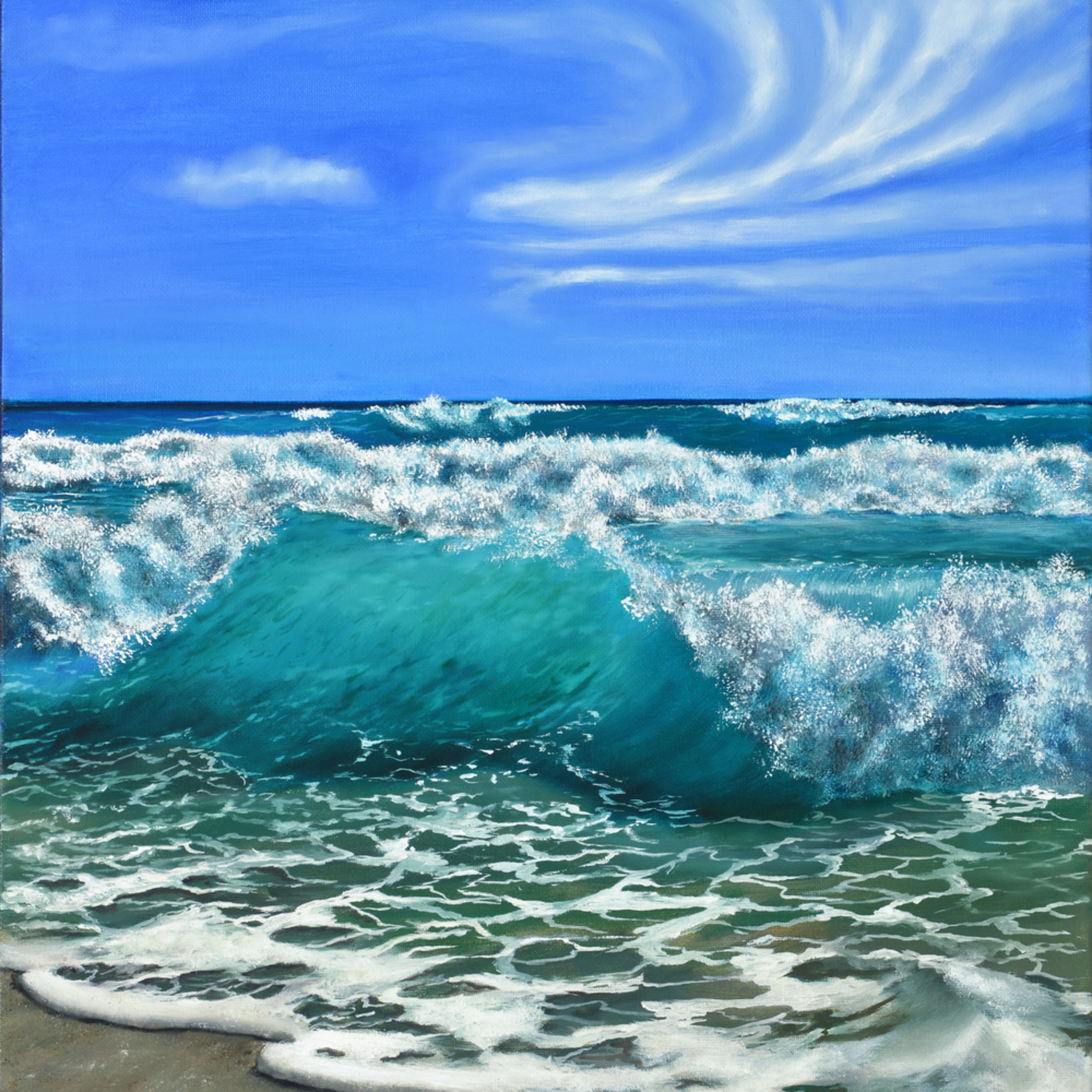 07  beach waves oil on canvas by monica marquez gatica mmg art studio n4peug