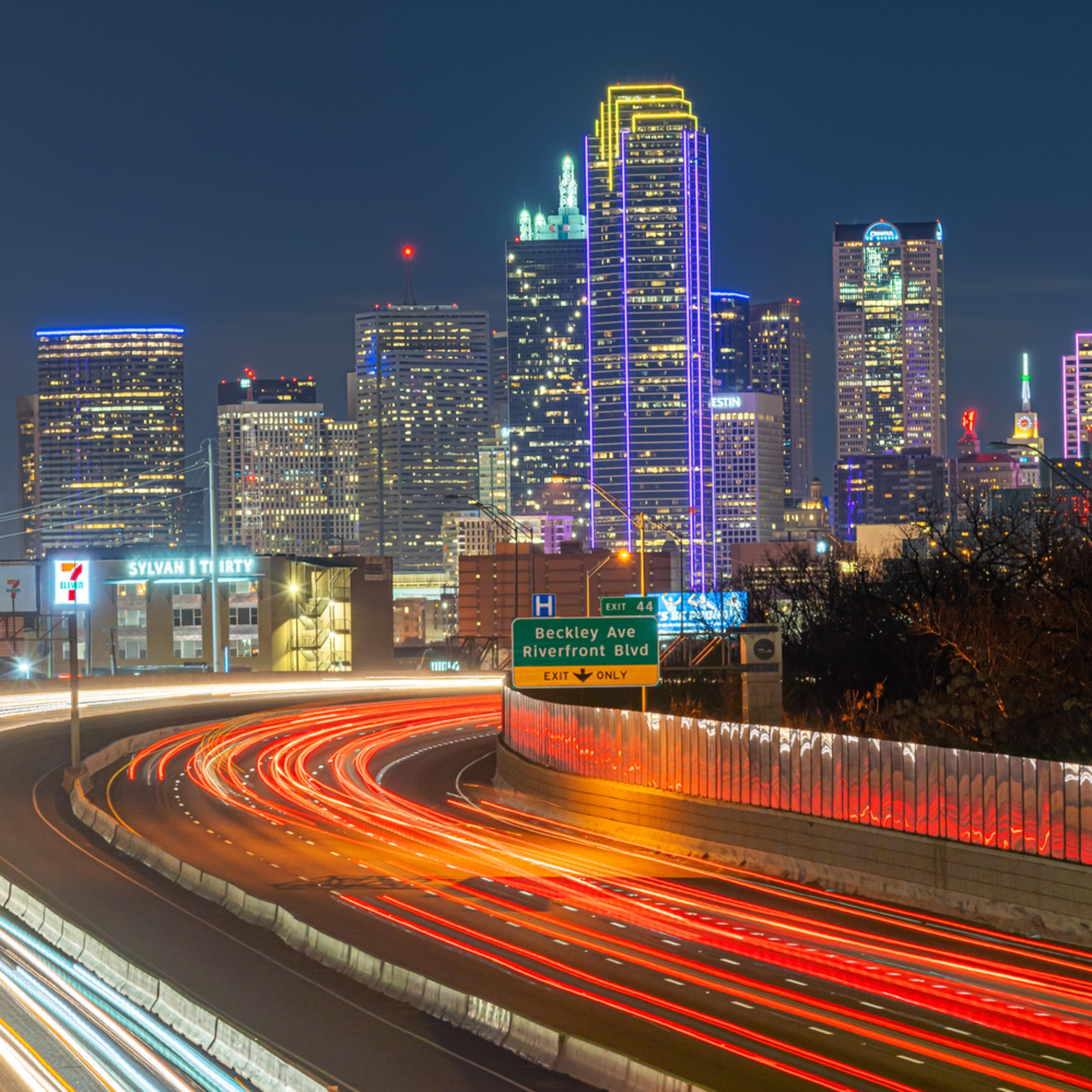 Dallas skyline and freeway dg9rku