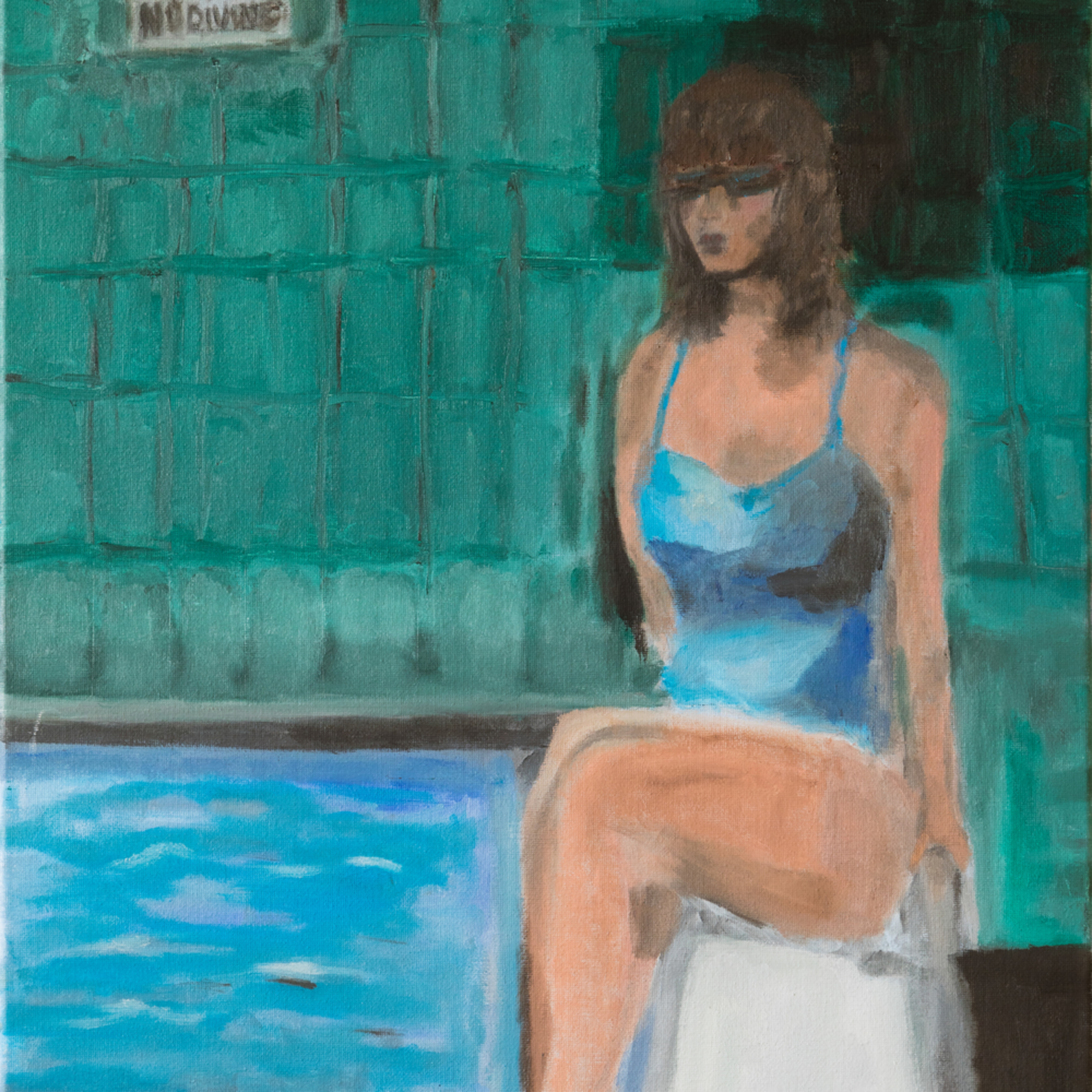 No diving   ane howard paintings 06 bowgwd