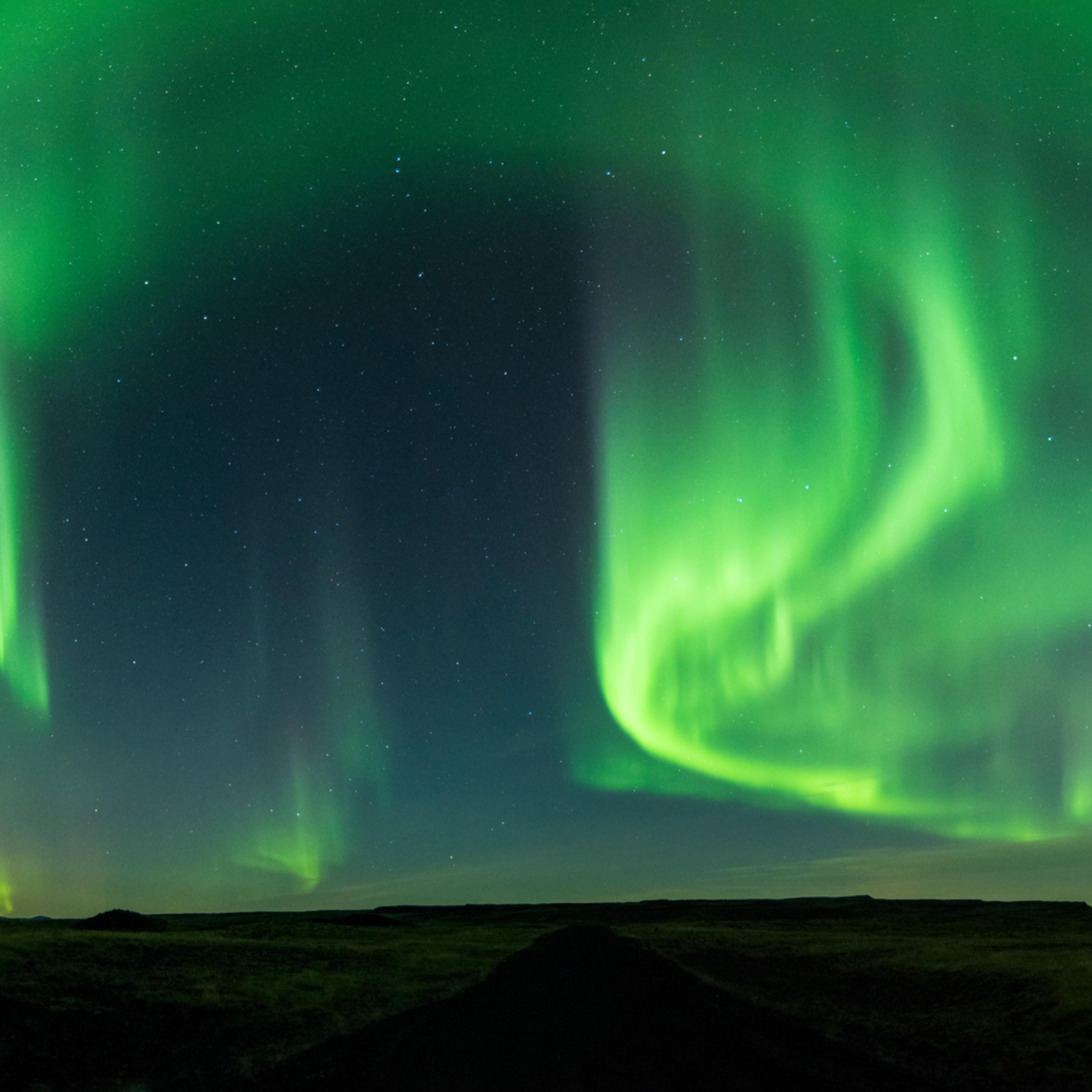 Northern lights south iceland nwlkot