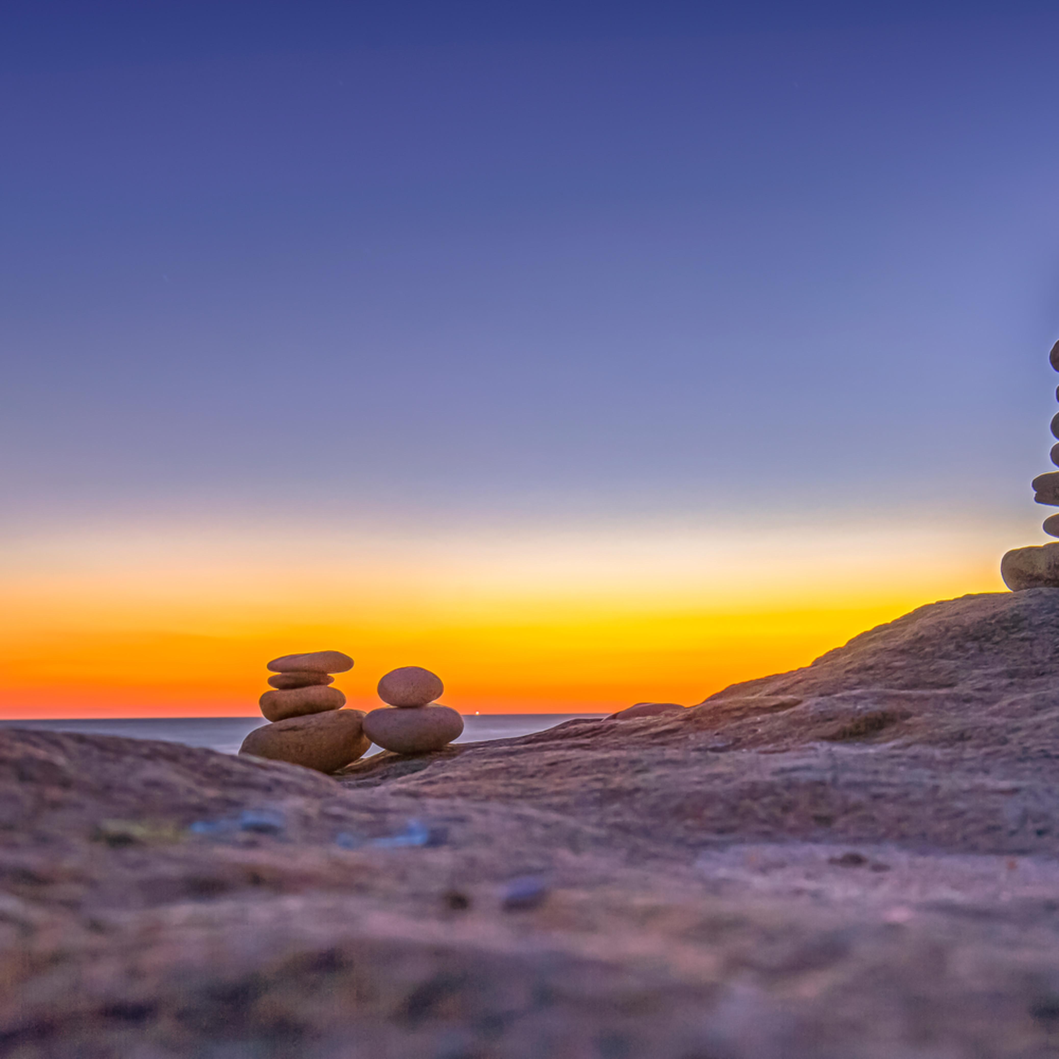 Moshup beach sunset cairn vzucgz
