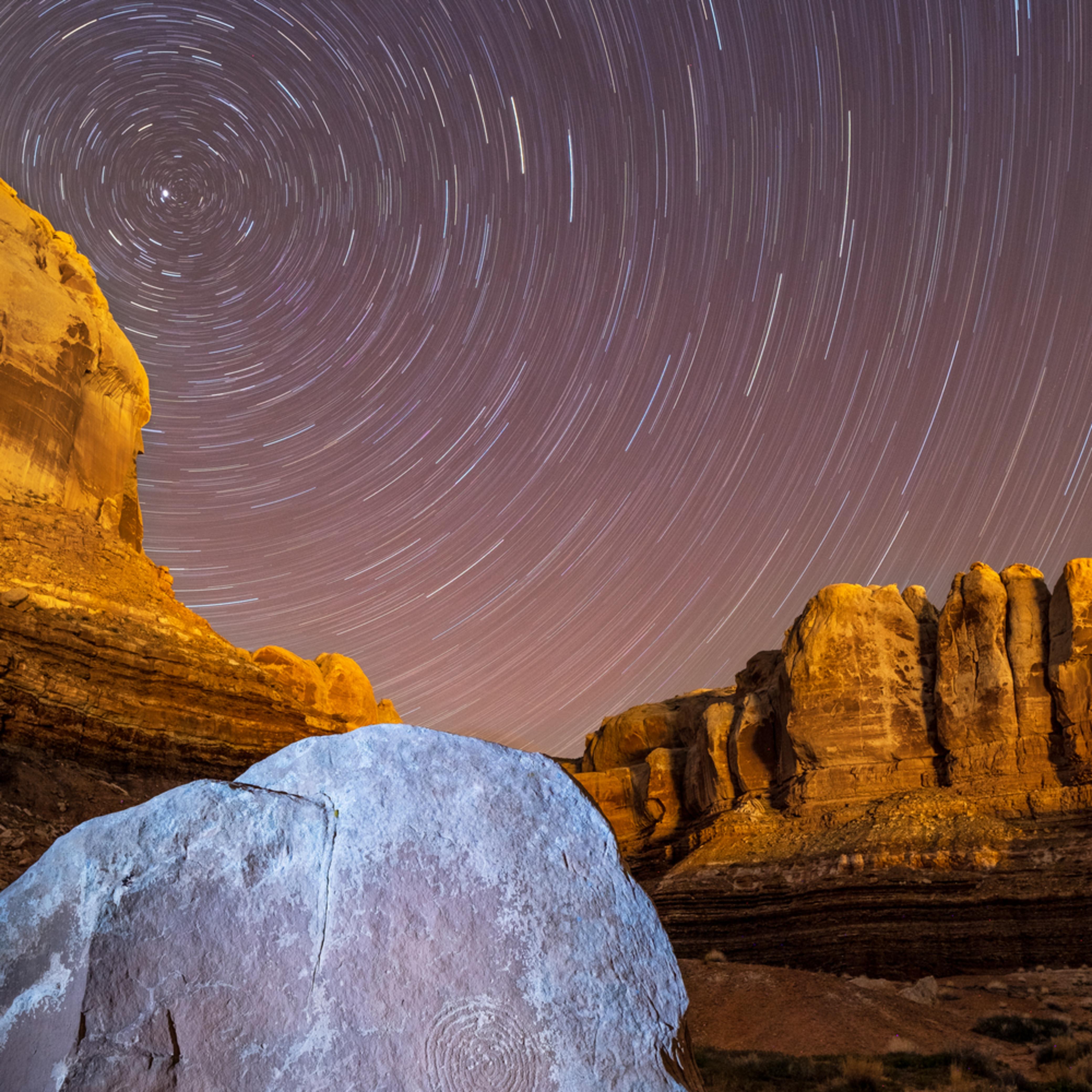 Star trails with spiral wknmqs