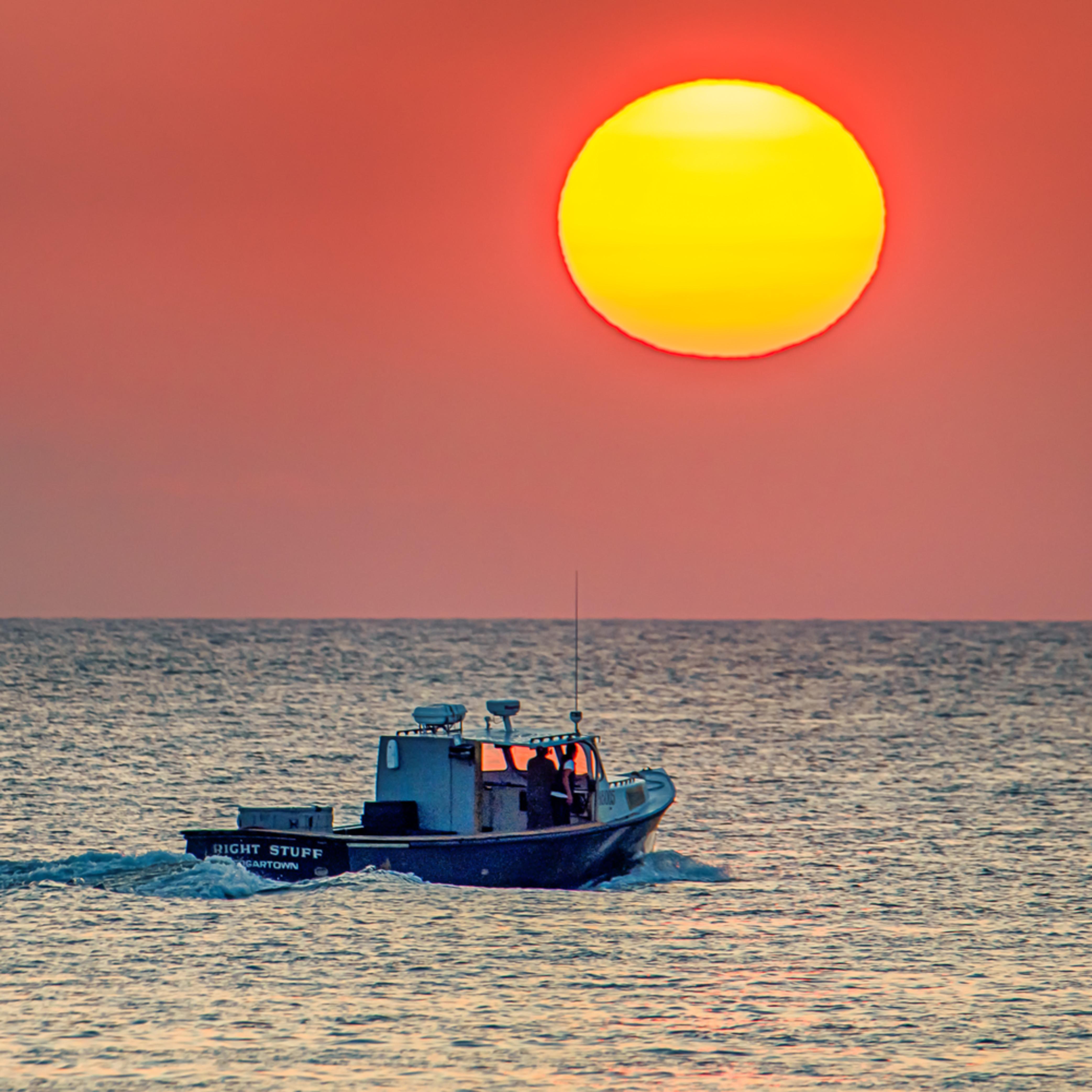 Oak bluffs summer lobster boat sunrise fefrgq