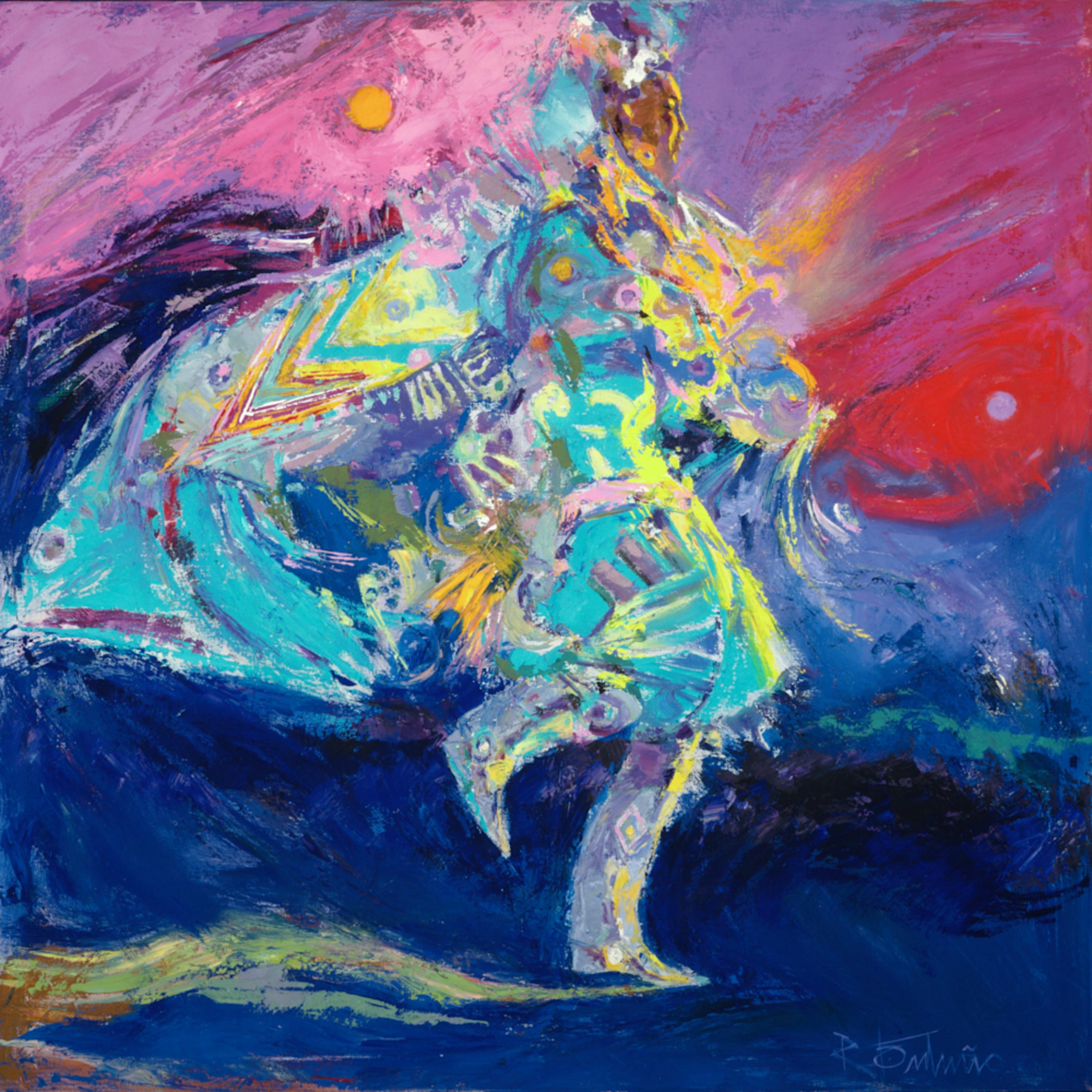 Shawl dancer in blue eczmrq
