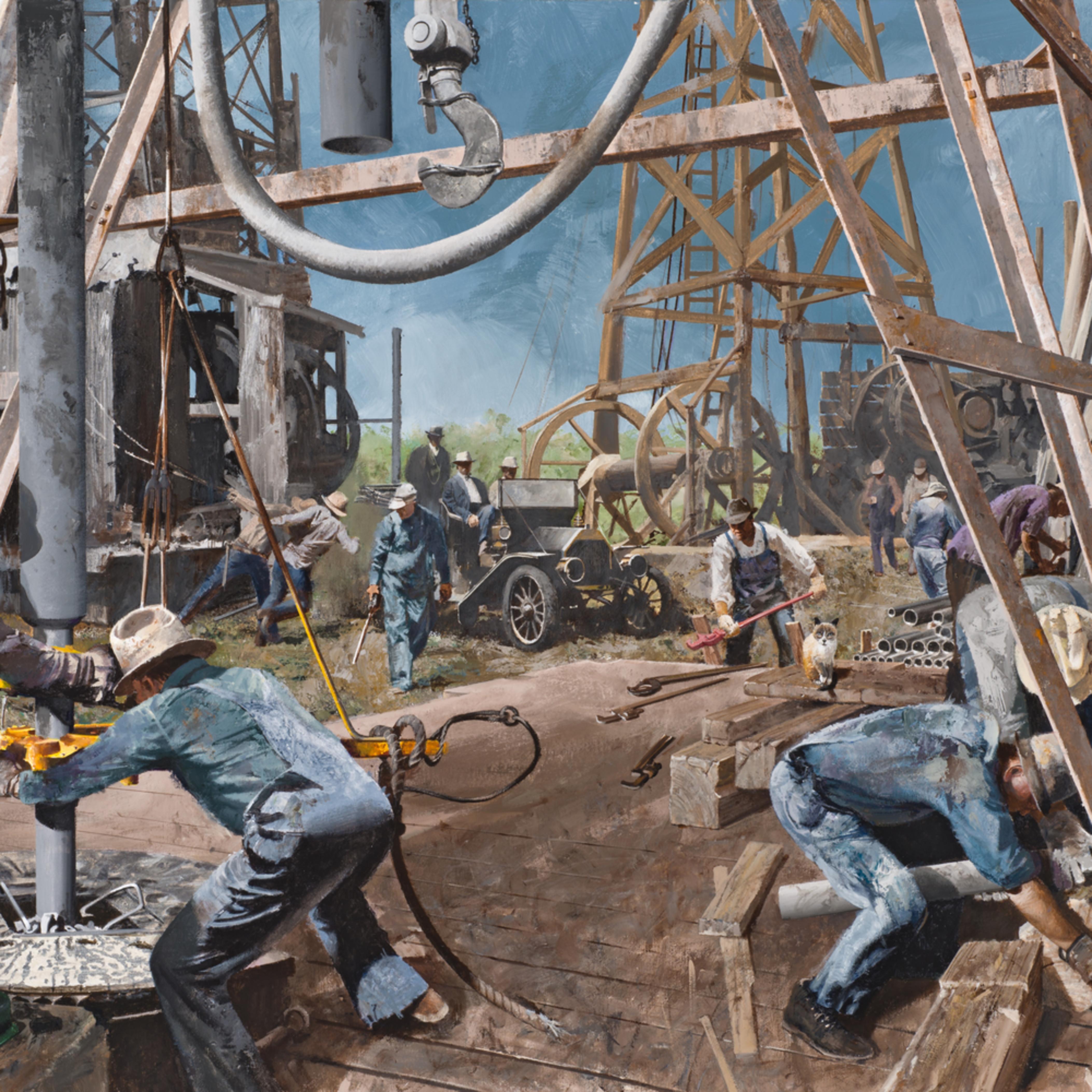 Fotor.ole time oil field scene tonbd1
