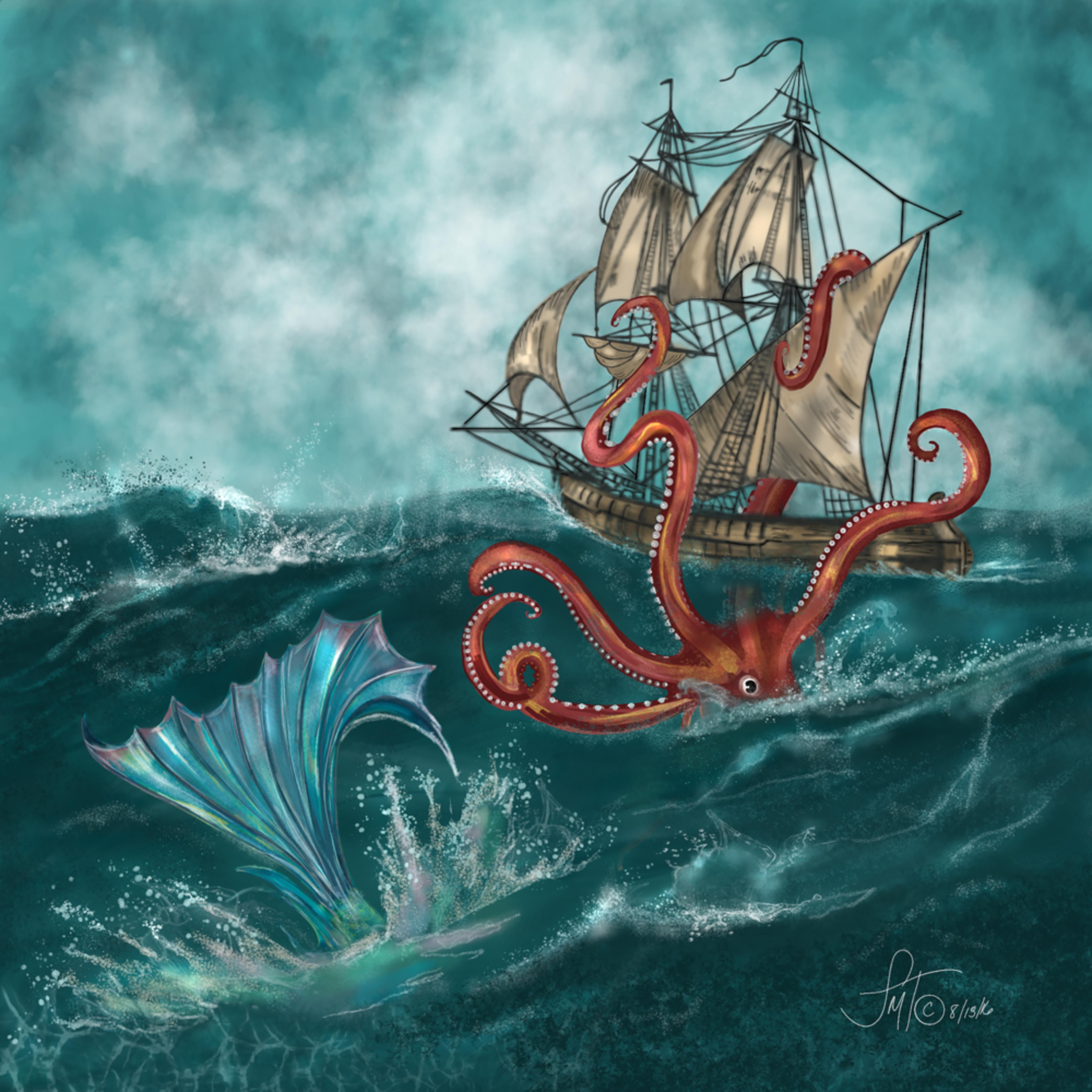 Kraken and the mermaid v4rlsy