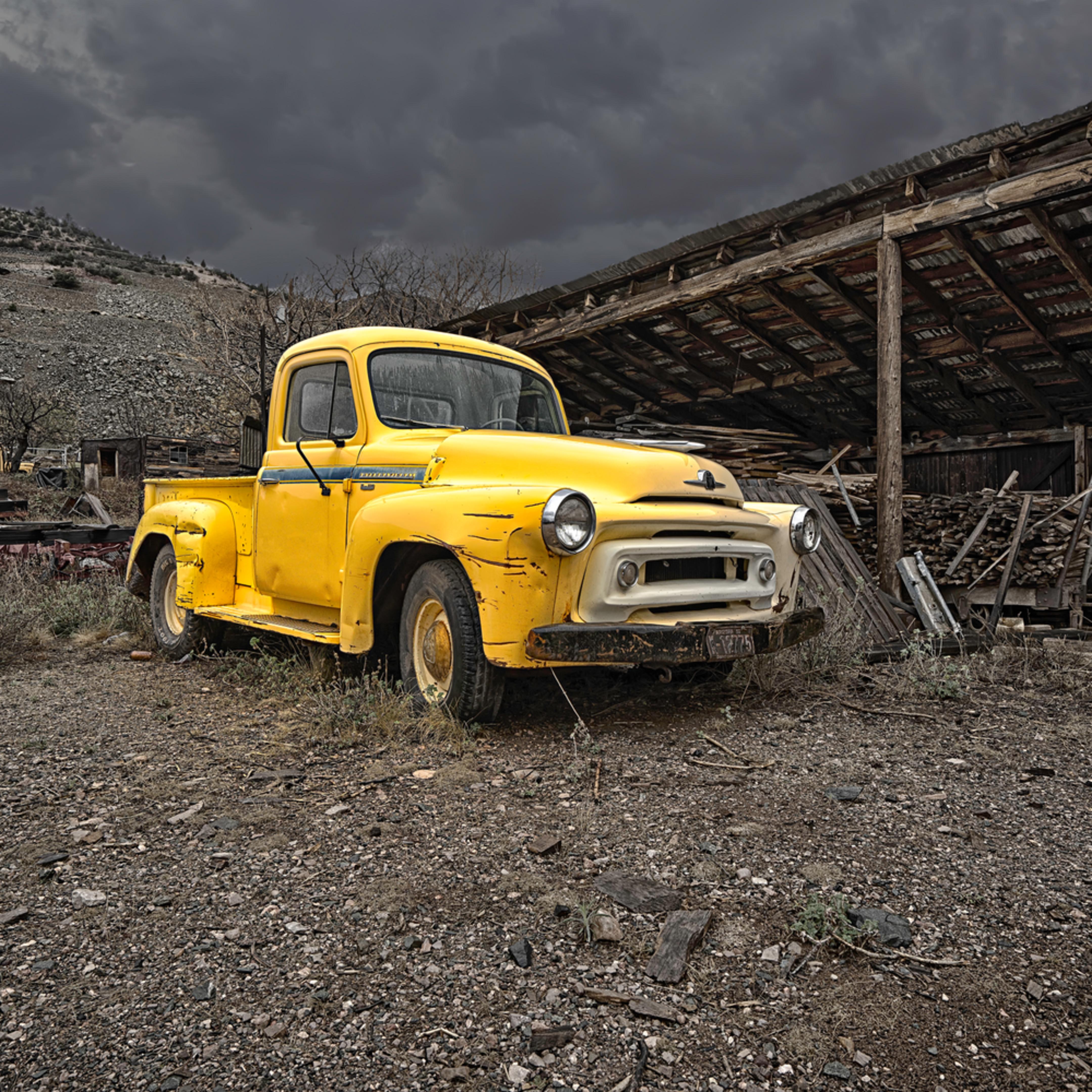 The old arizona gole mine truck vyxt7p