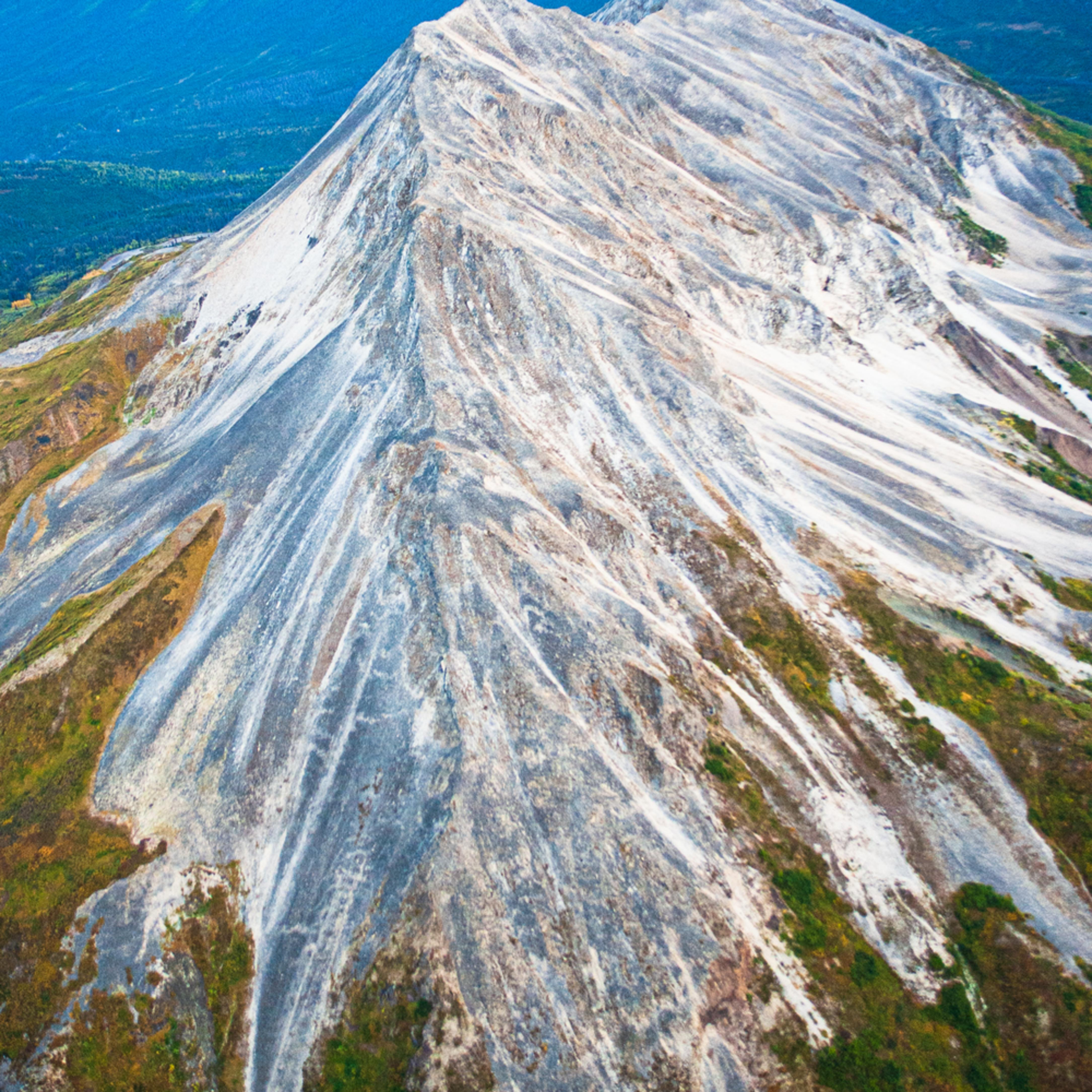 Dsc 4288 mountain spine aerial alaska aerial cirque at sunset mcrgod