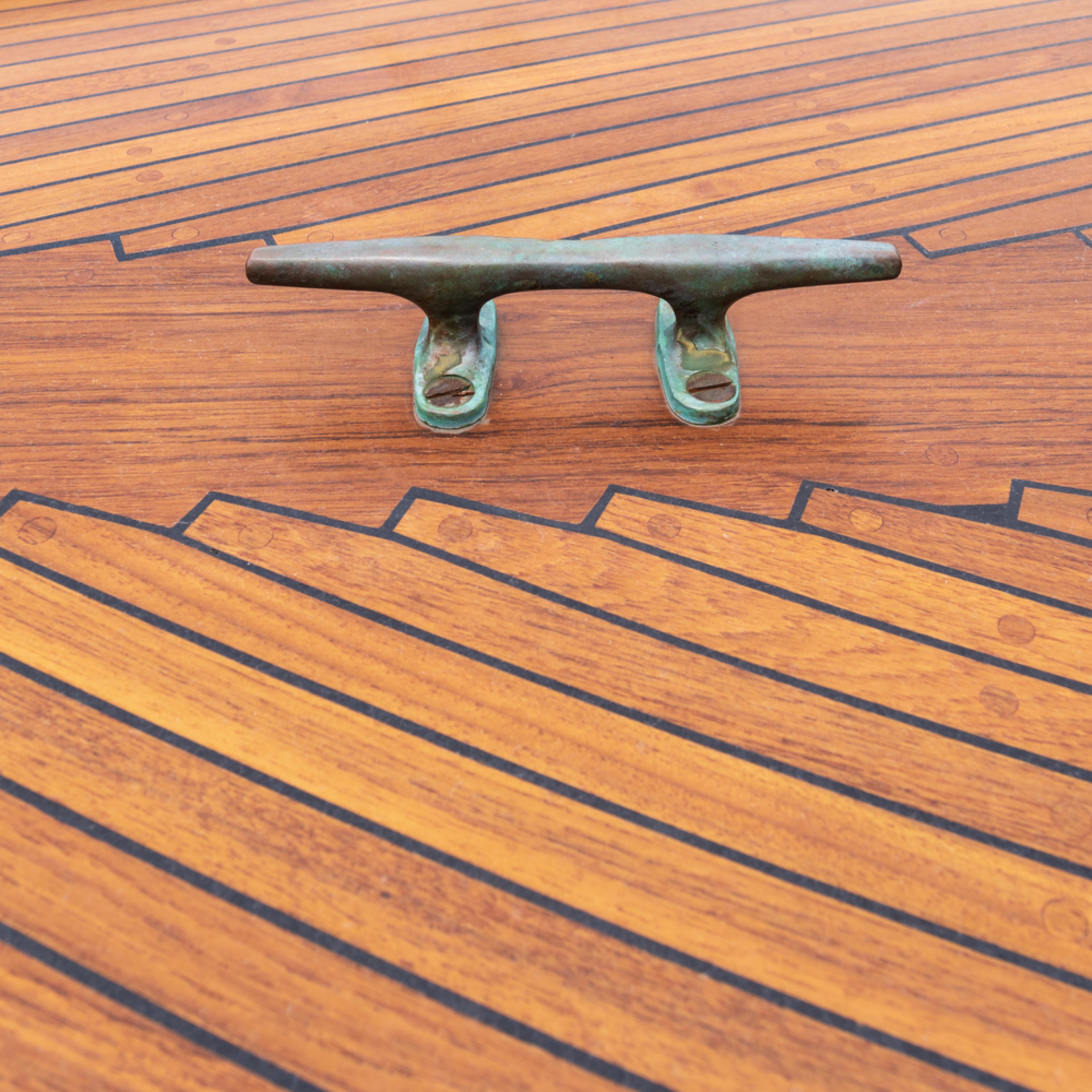Decorative teak deck planking  t15q6q