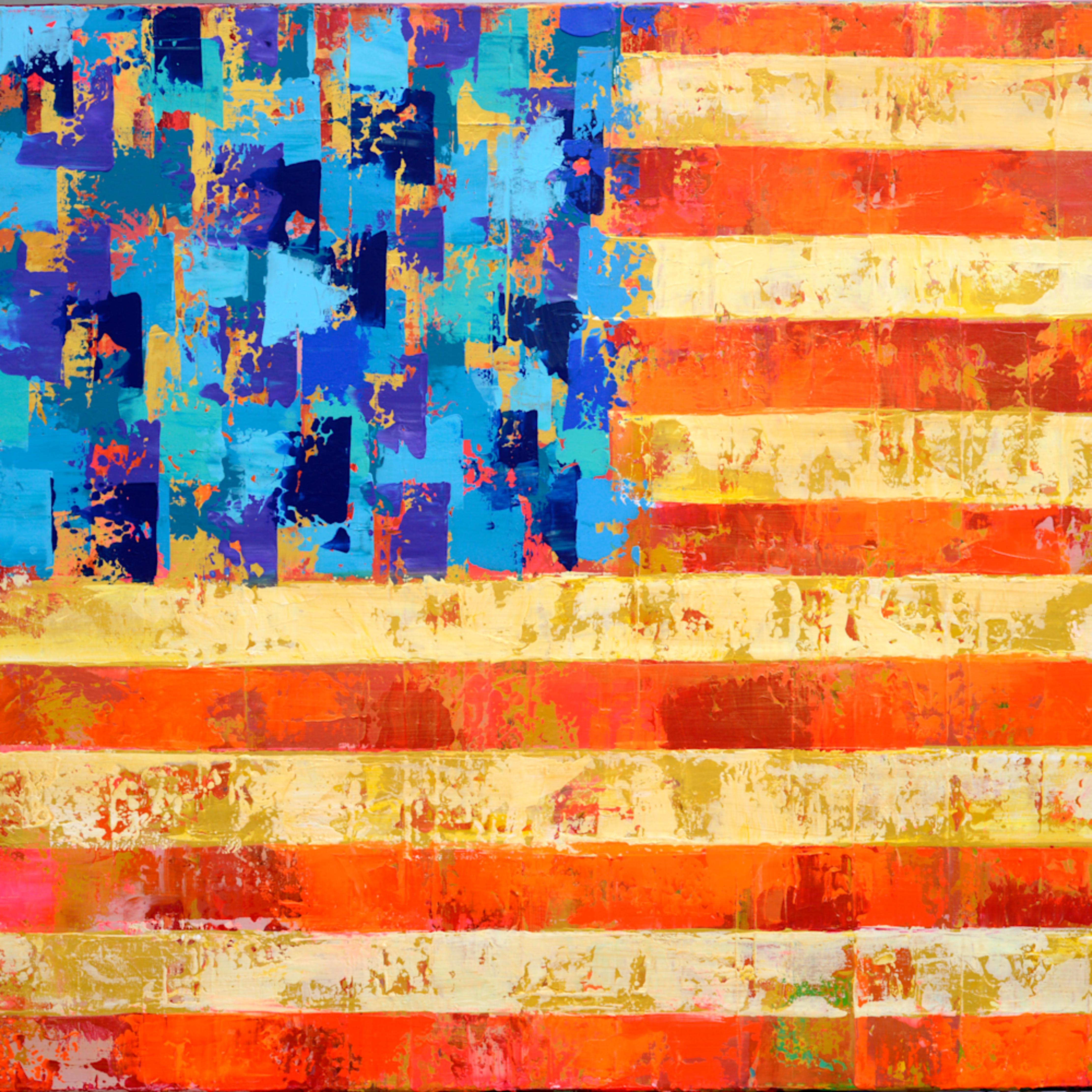 American flag checked hi res kqqmxv