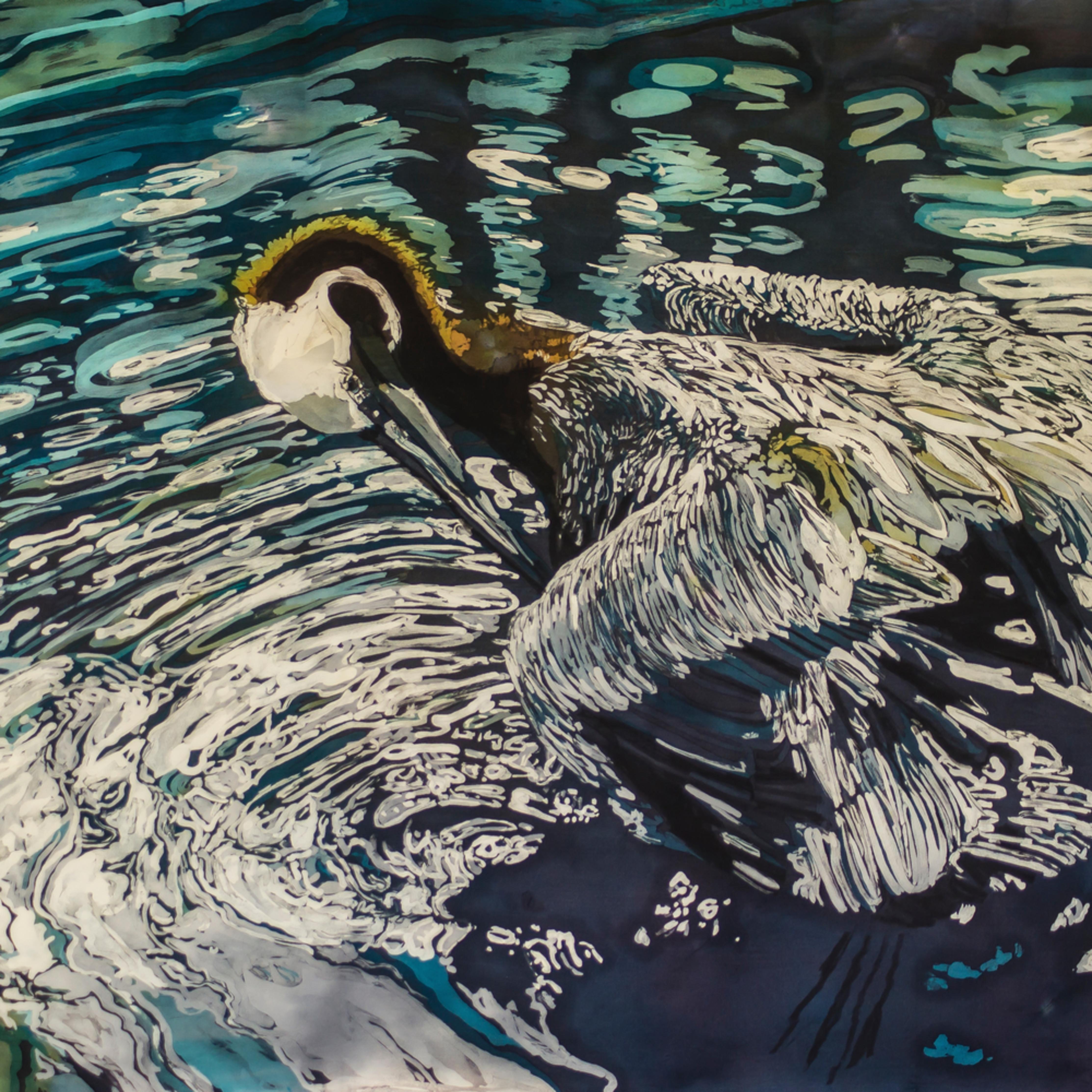Mcg 130 muffy clark gill preening 2014 rozome on silk  uharw2