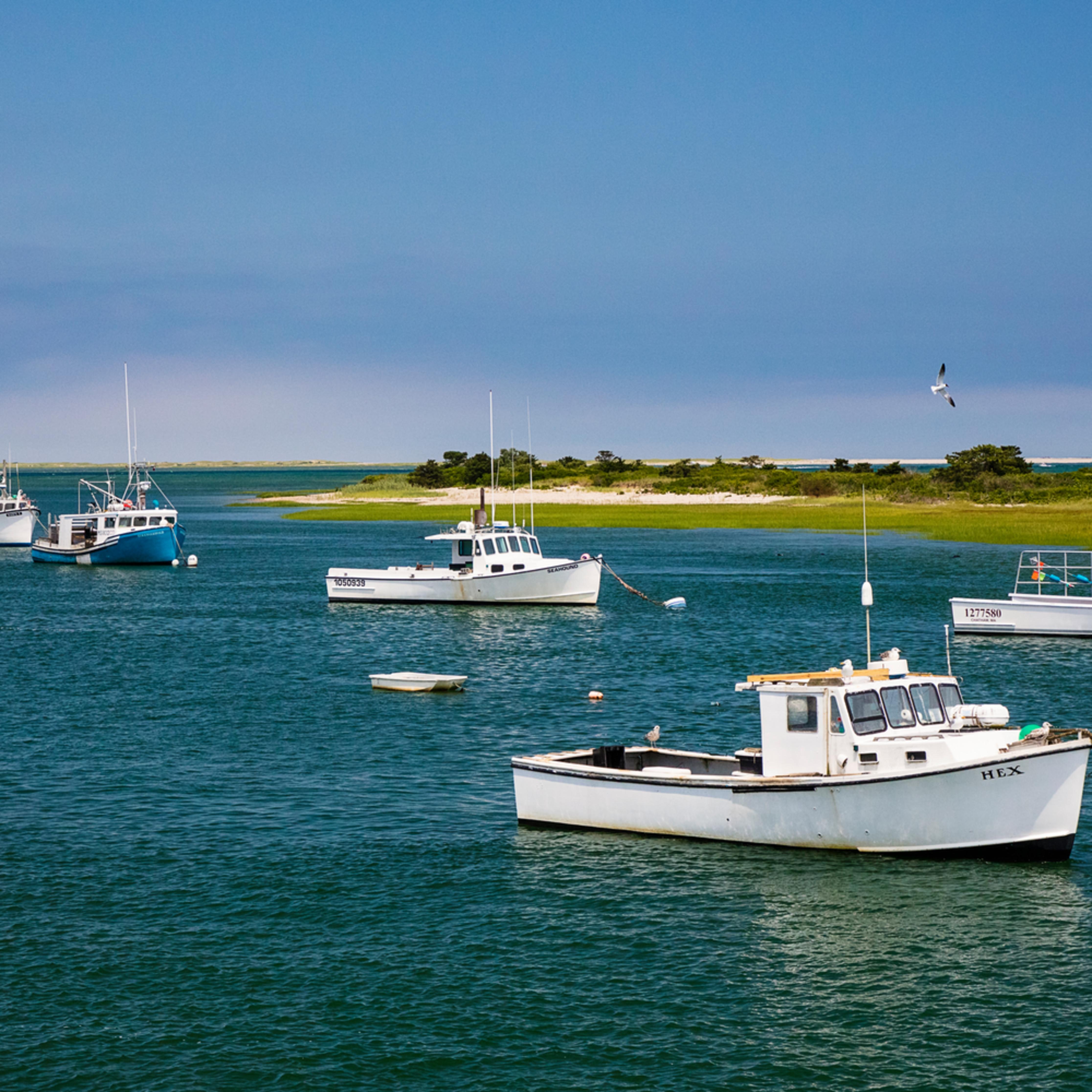 Chatham fish pier boats in harbor summer ztpmxw
