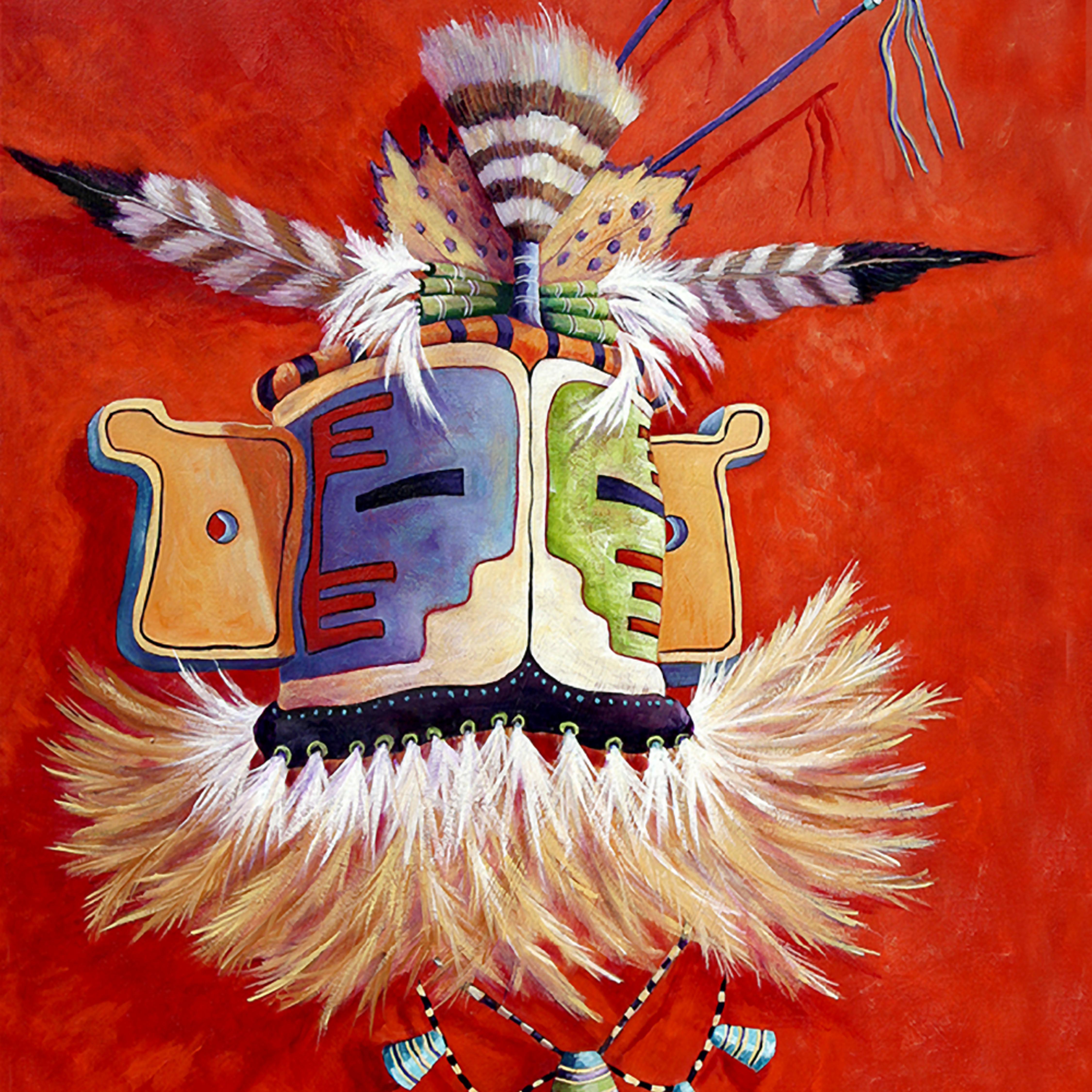 Hopi ceremonial mask gfpka9