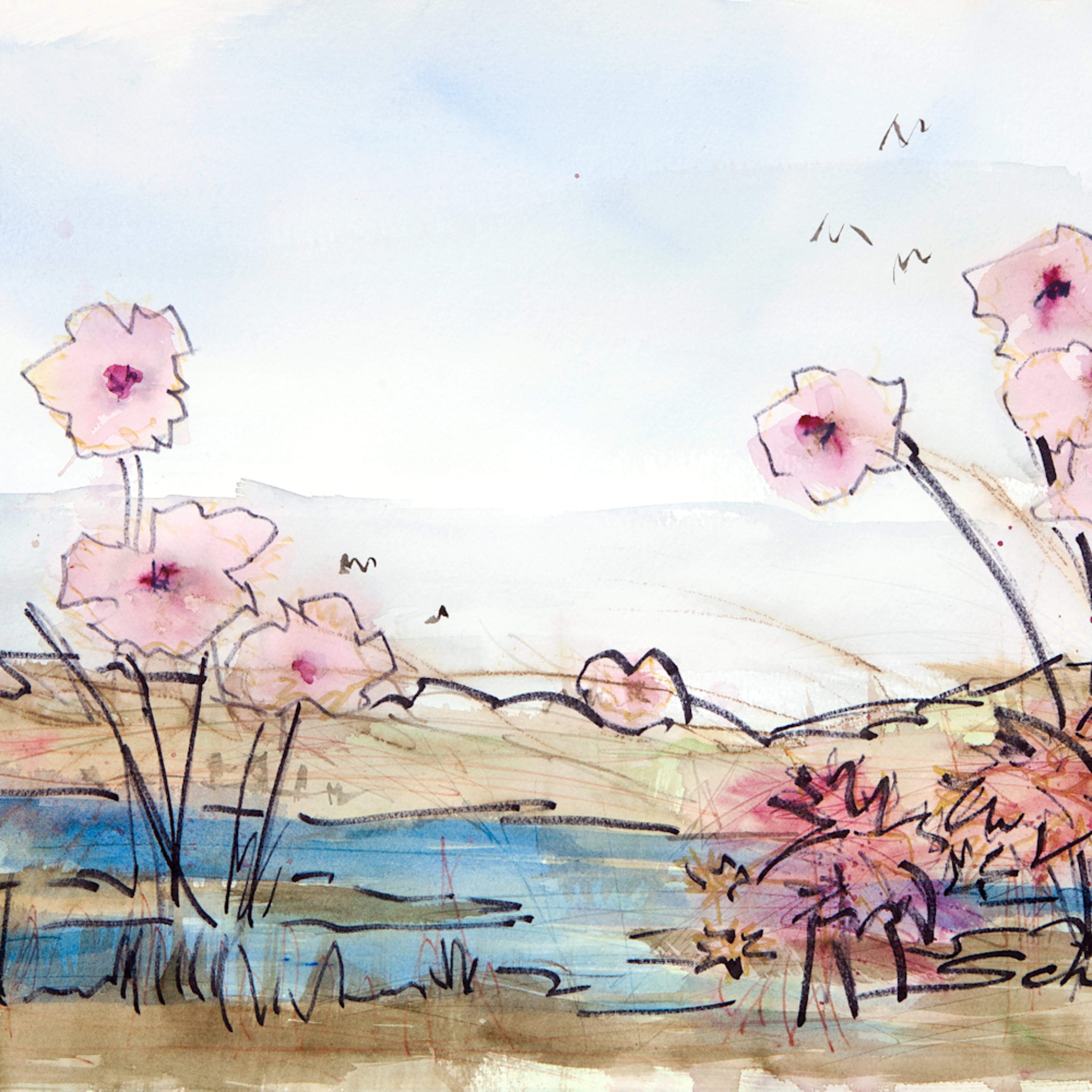 Marsh flowers mmwq0y