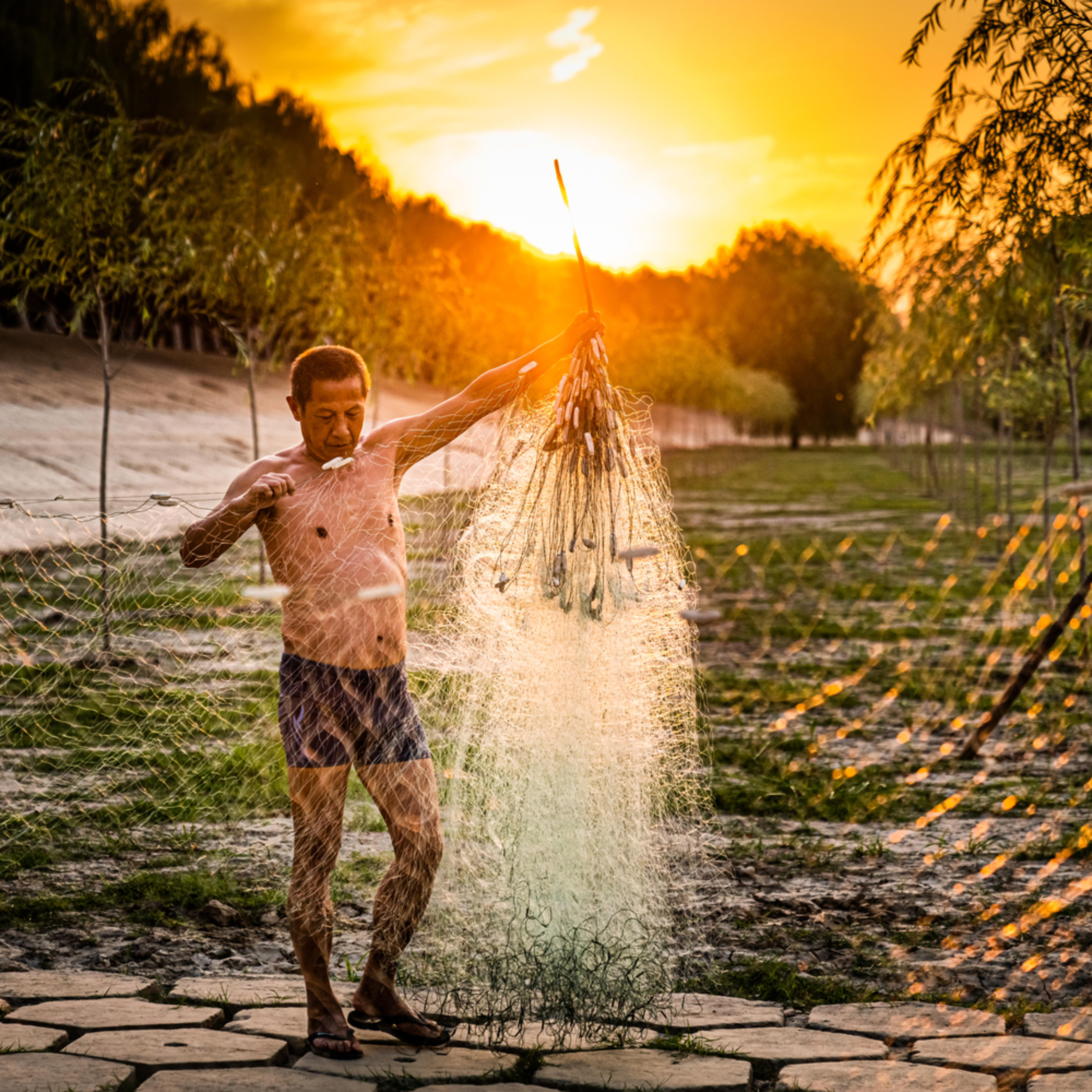 The fisherman and his net bfkymd
