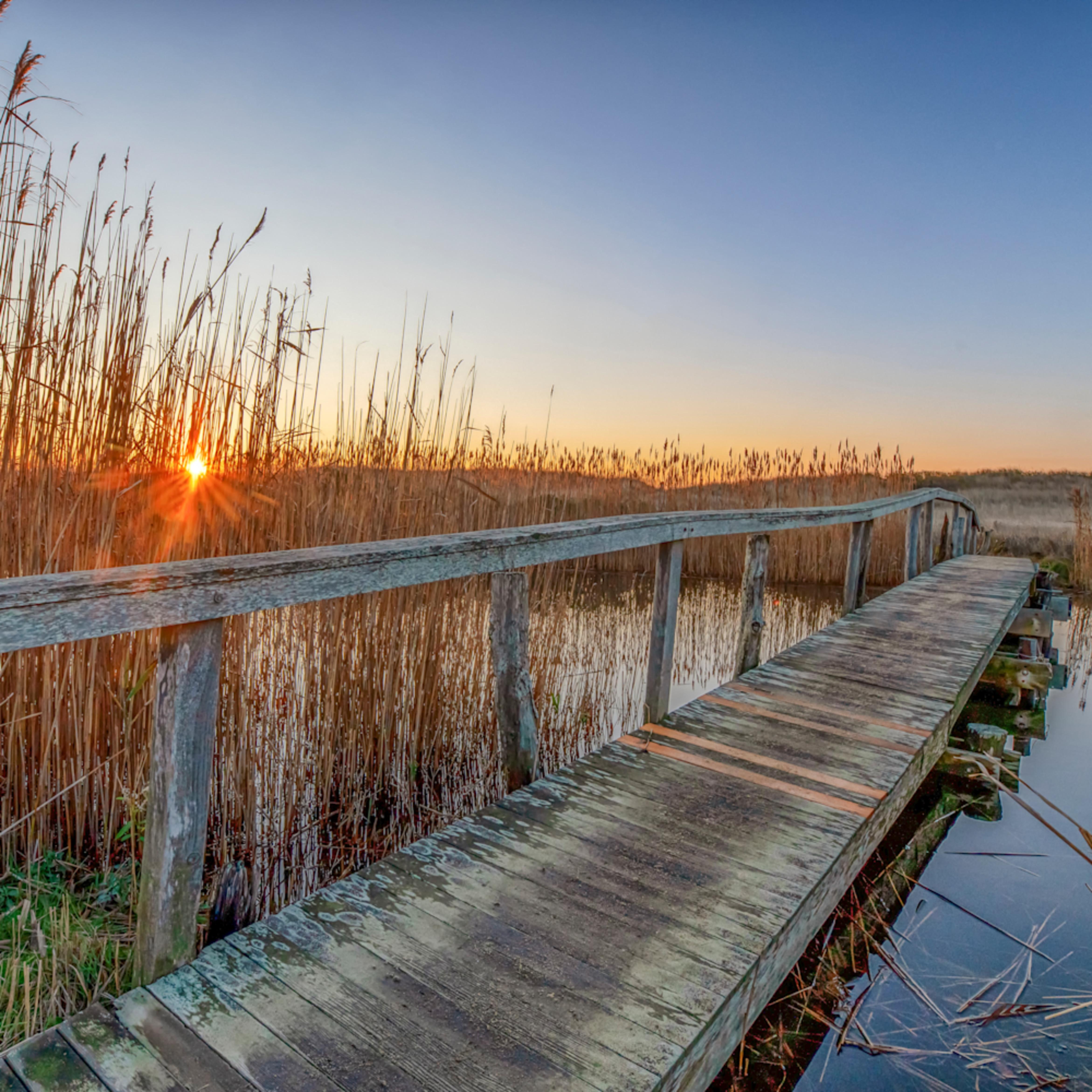 Quansoo bridge fall sunrise rcnqzs
