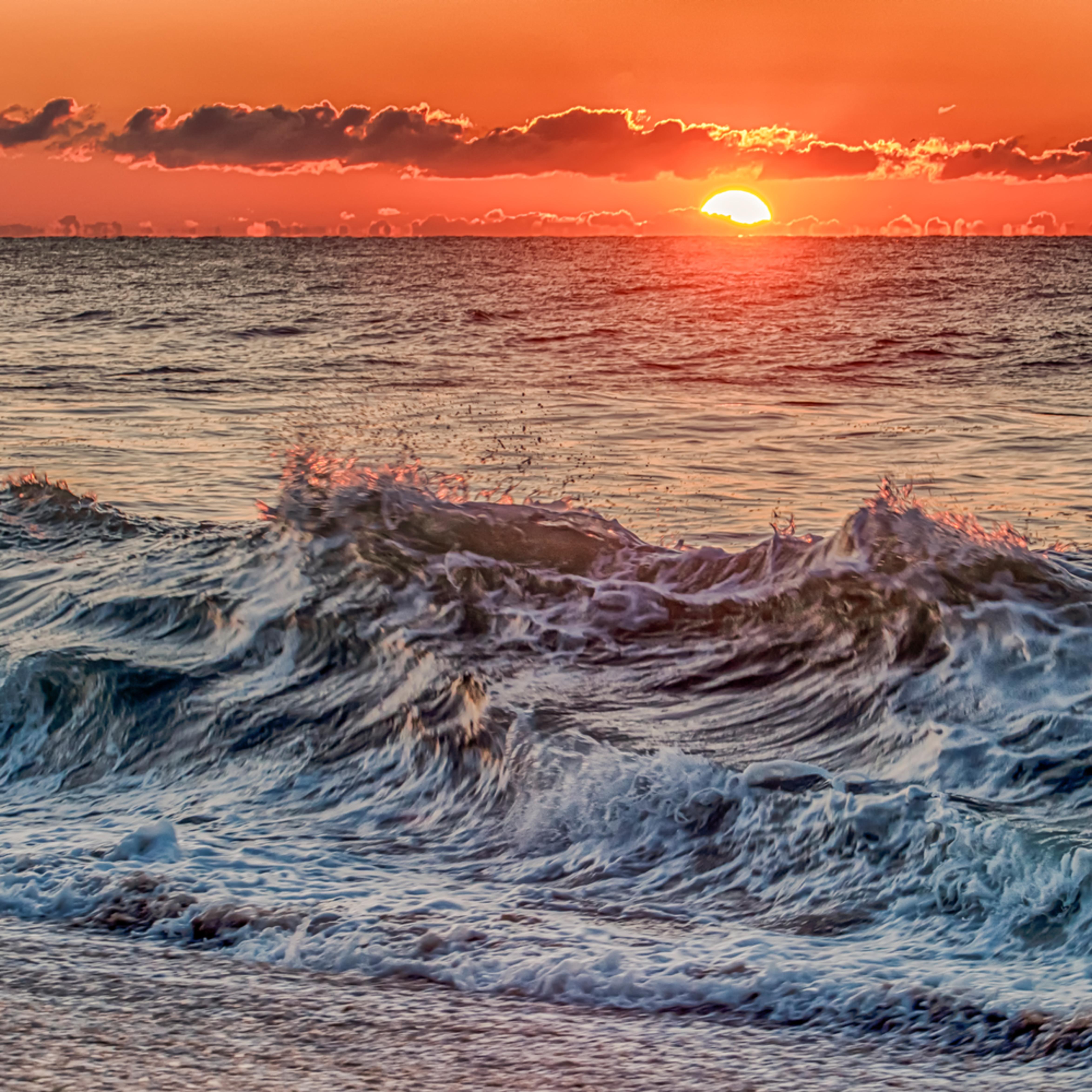 South beach sunrise waves mnzsc4