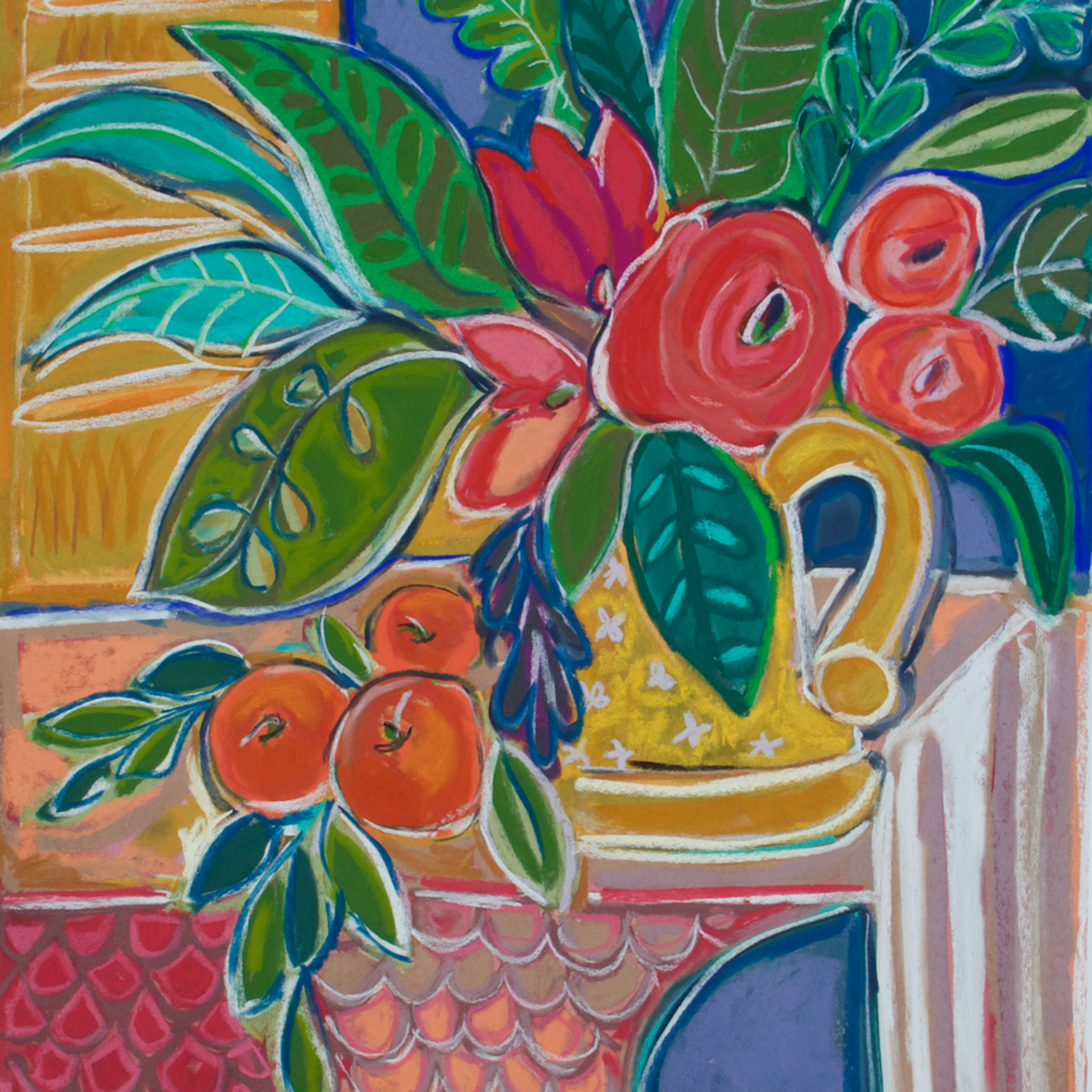 Floral with oranges rq5zdr
