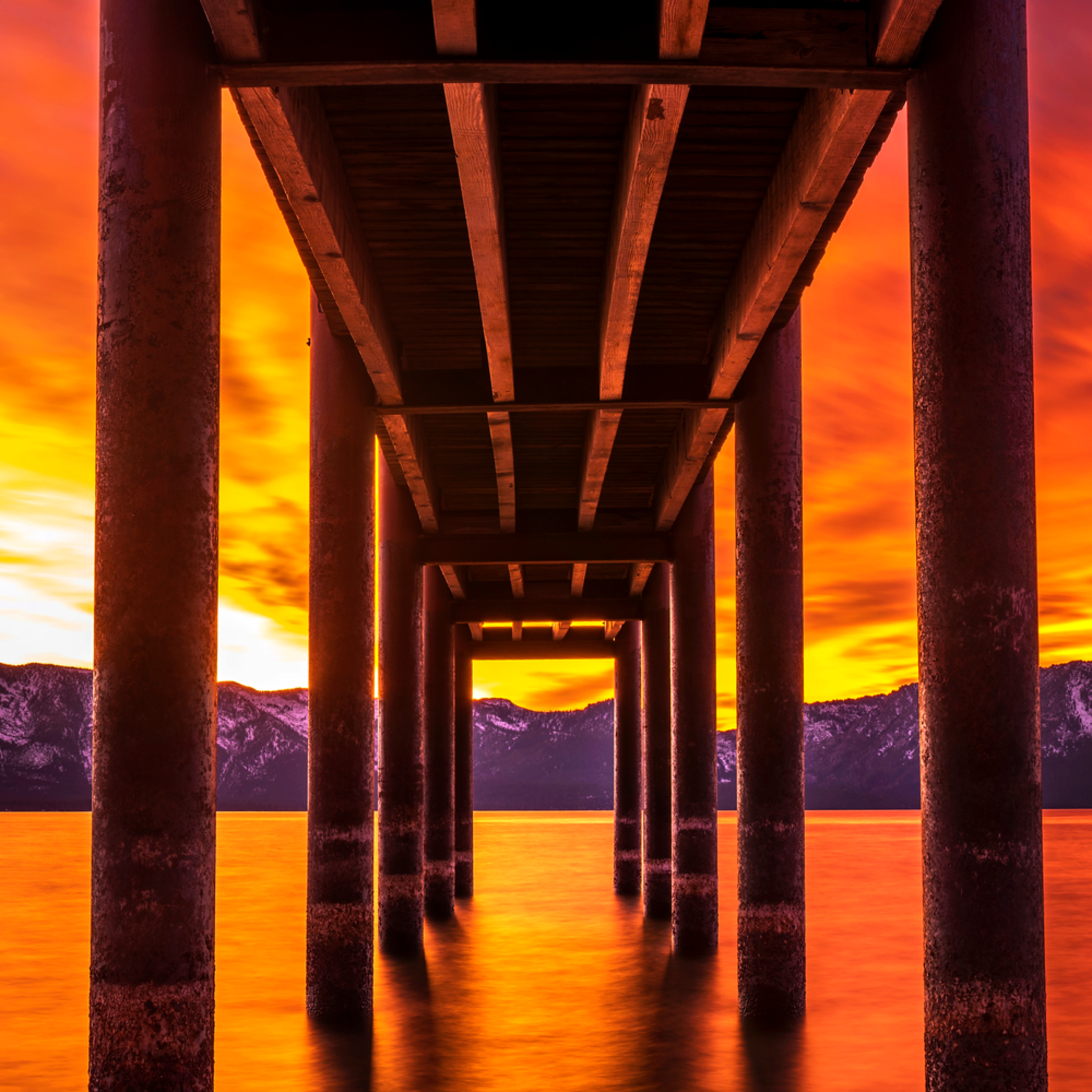 Under the dock sunset pano color correction ehf9kd