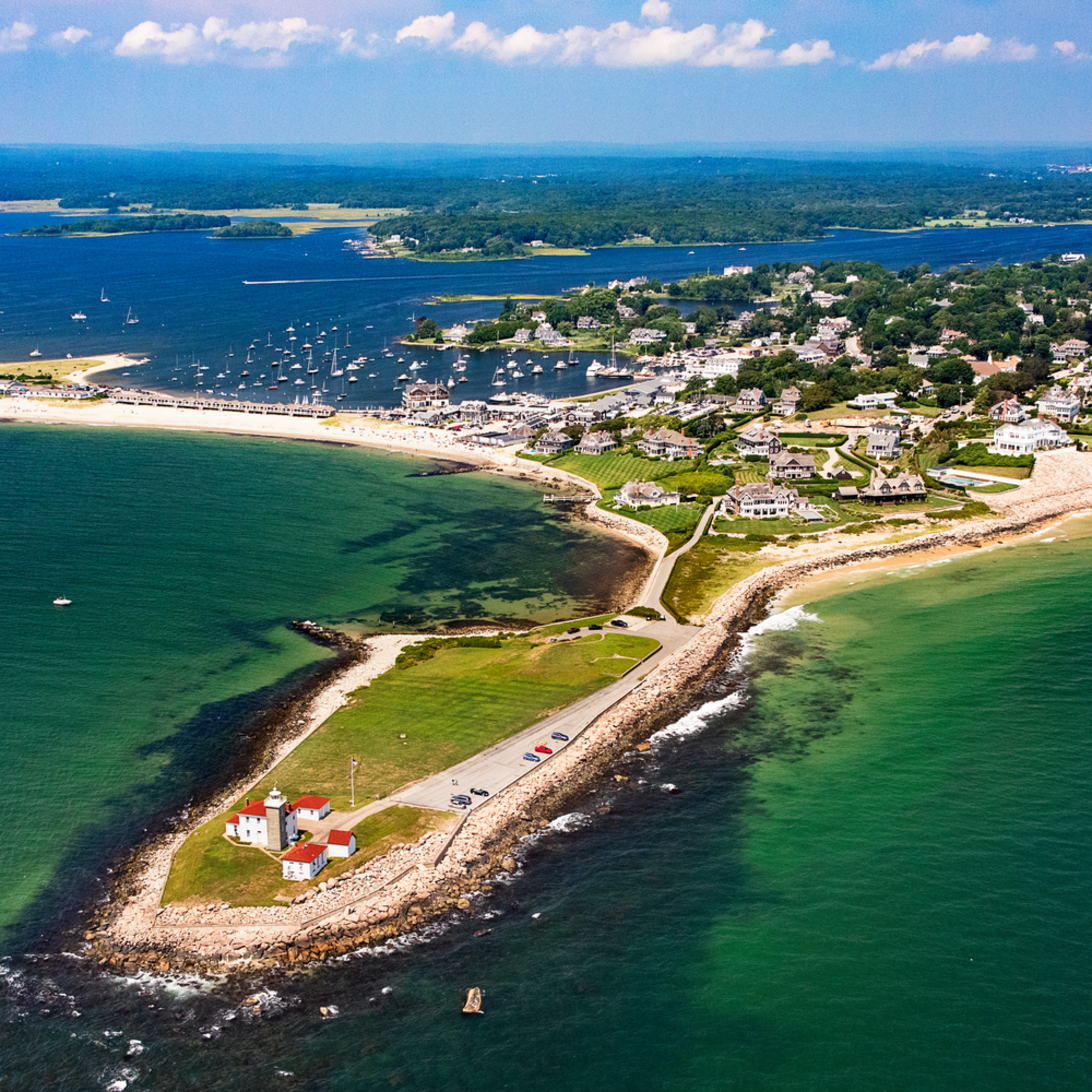Watch hill lighthouse aerial clovdm