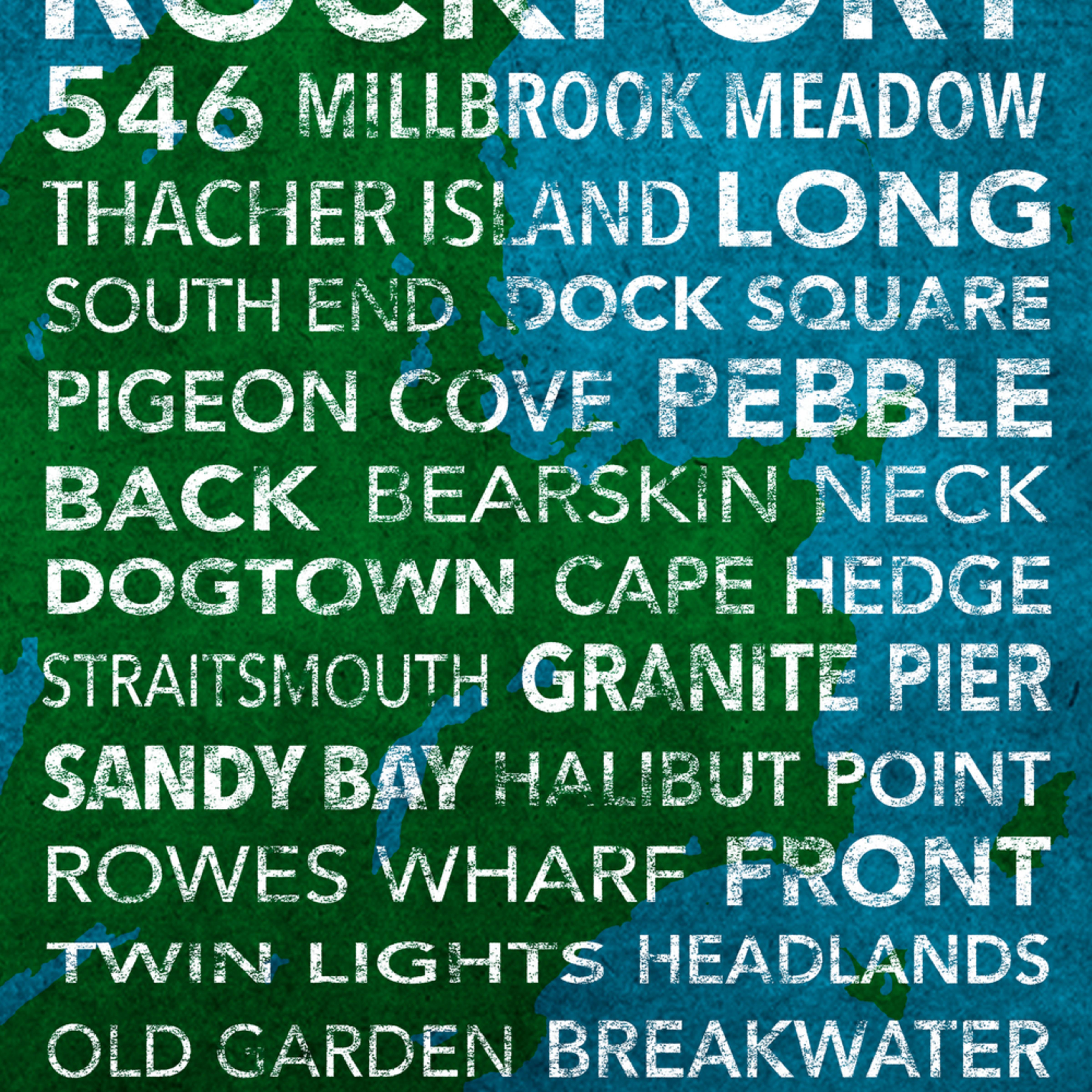 Hometown graphics rockport bluegreen full xljhyd