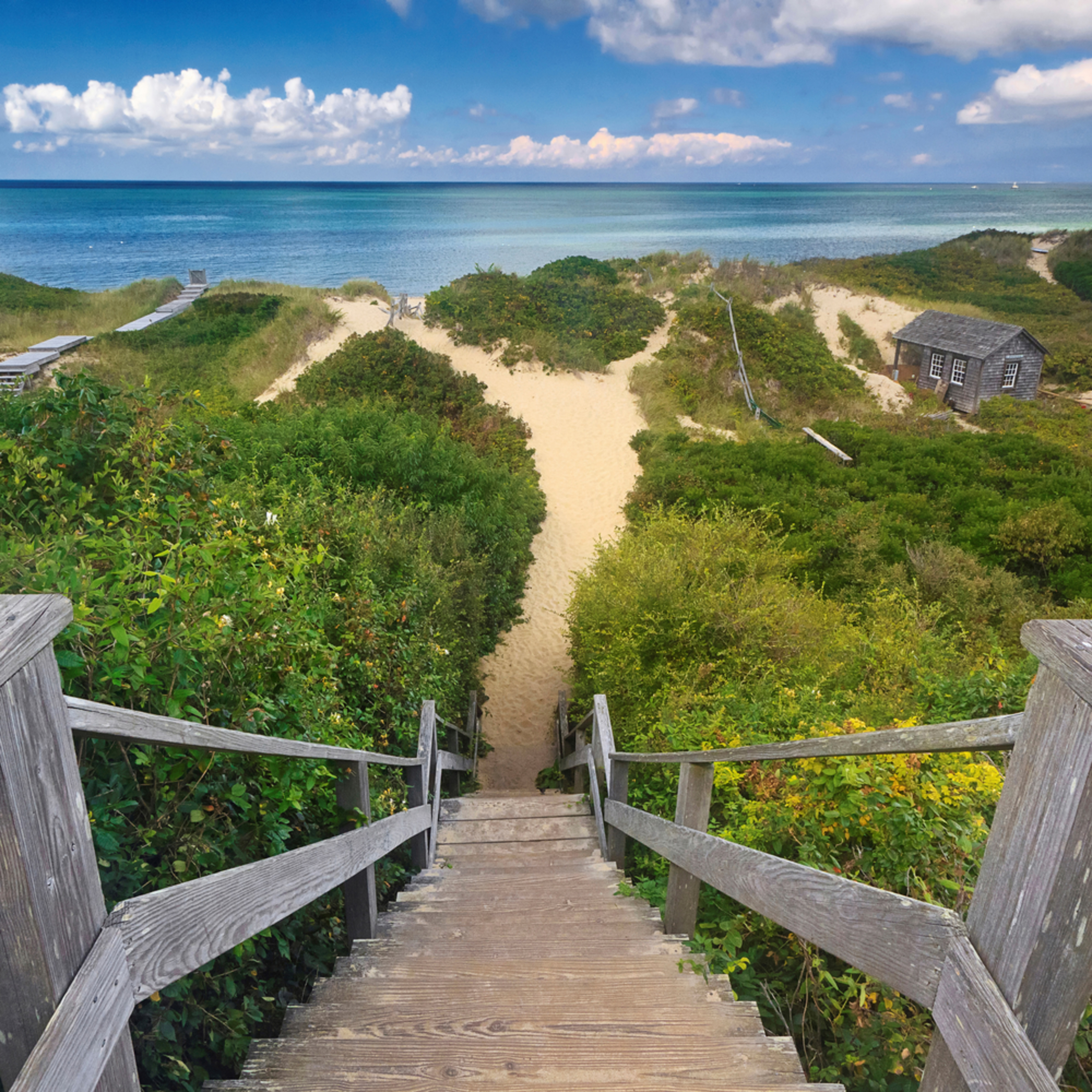 Steps beach nantucket large photo print msghkd