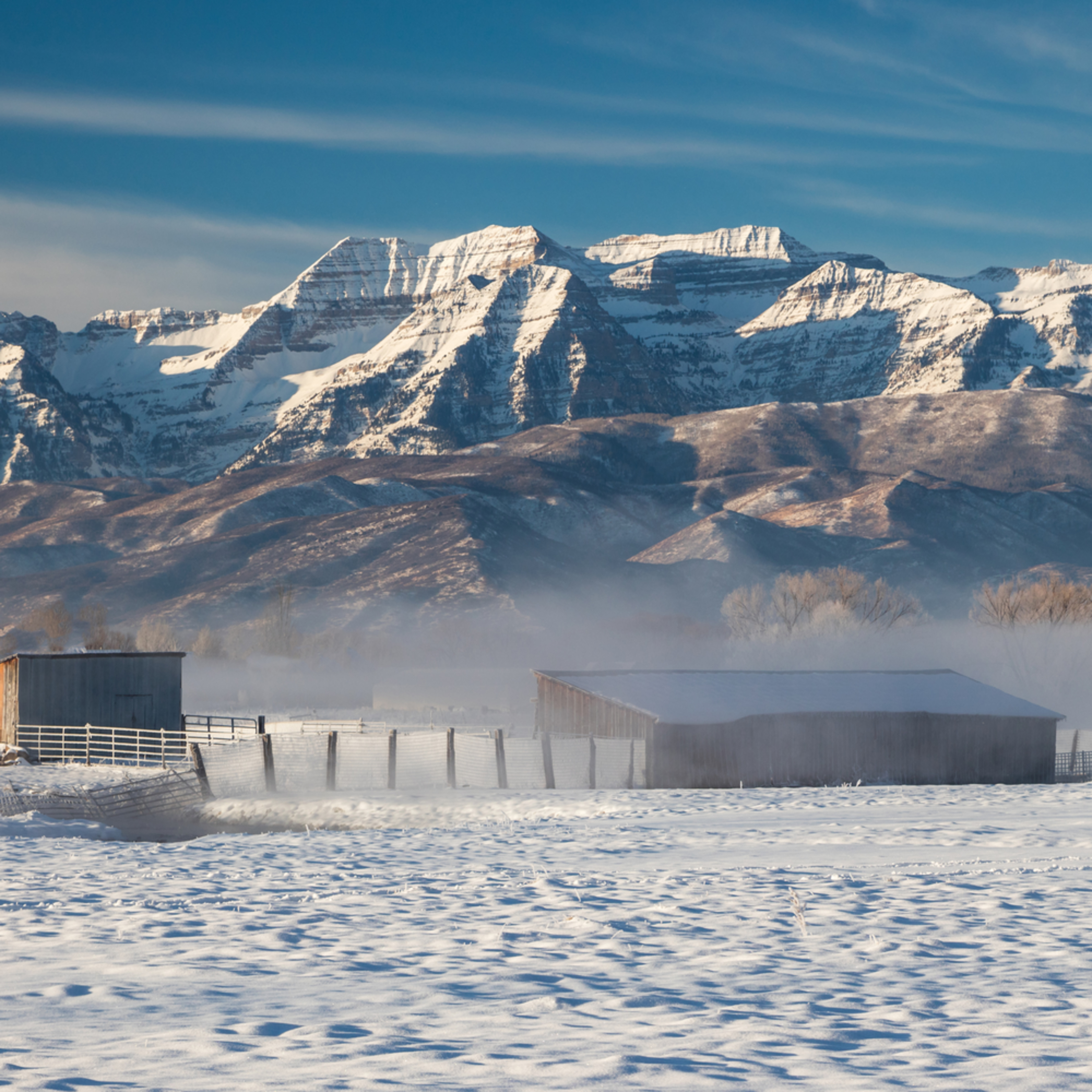 Frosty barns with timp chlvlj