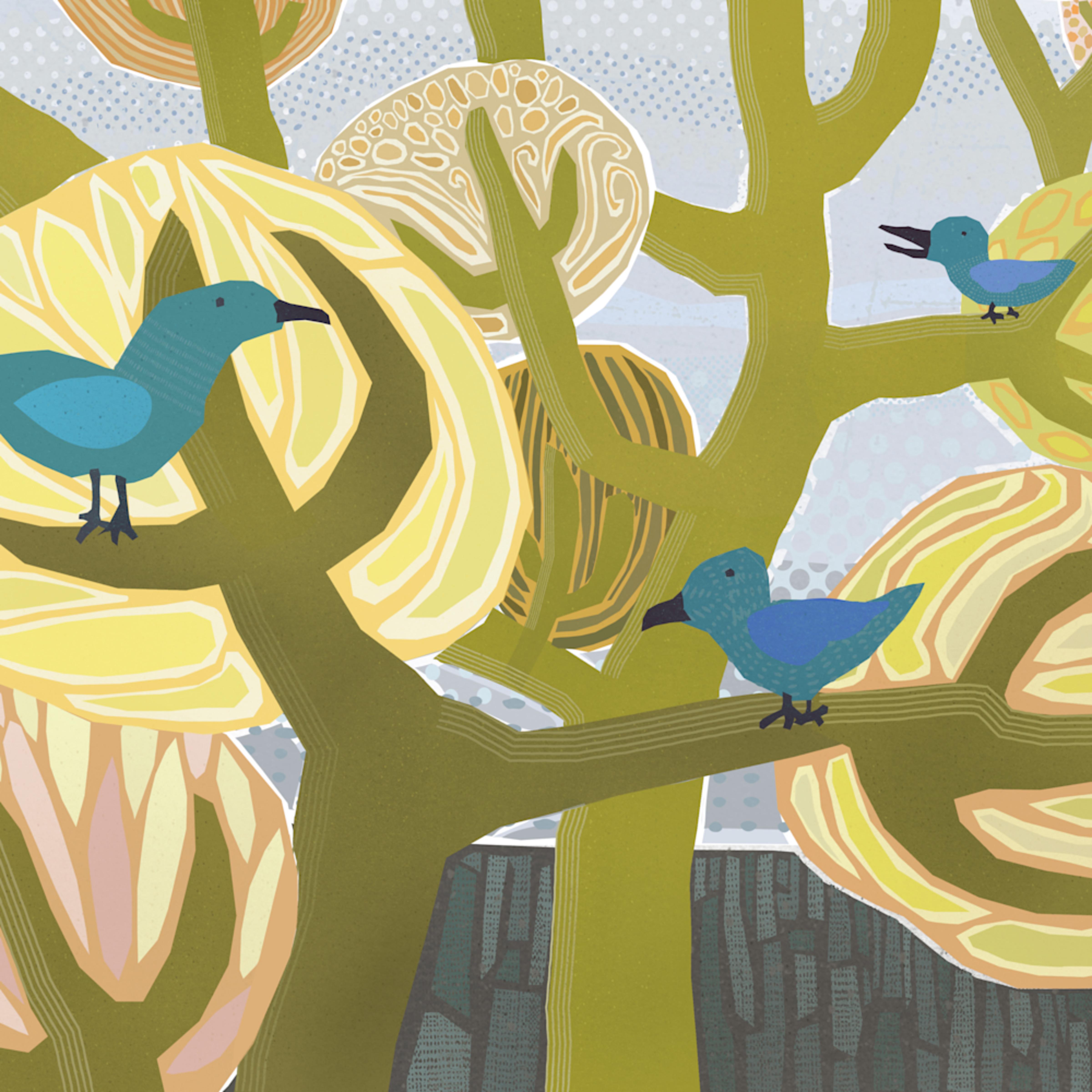 Three blue birds andrew daniel ituvcu