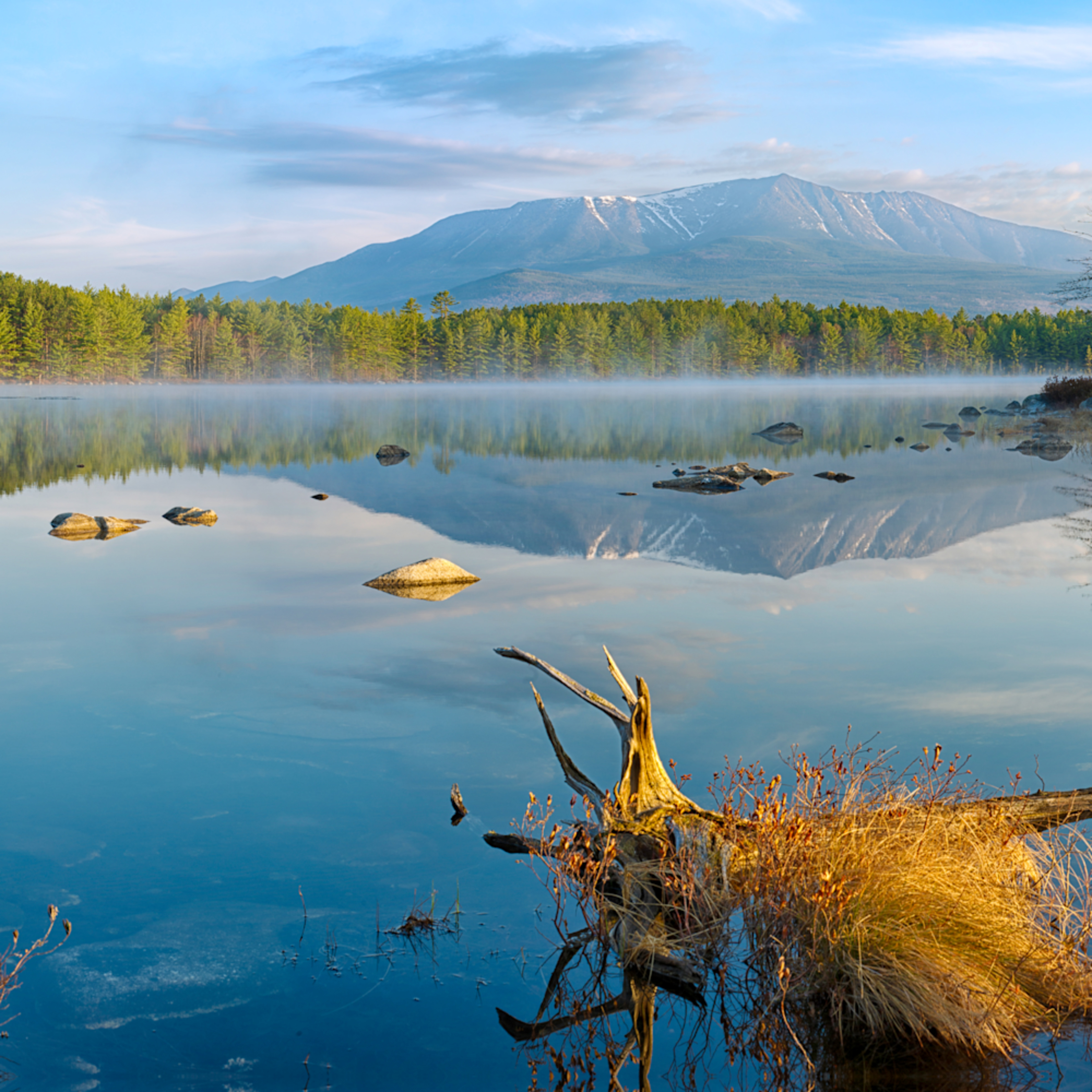 Katahdin from pockwockamus pond z51byp