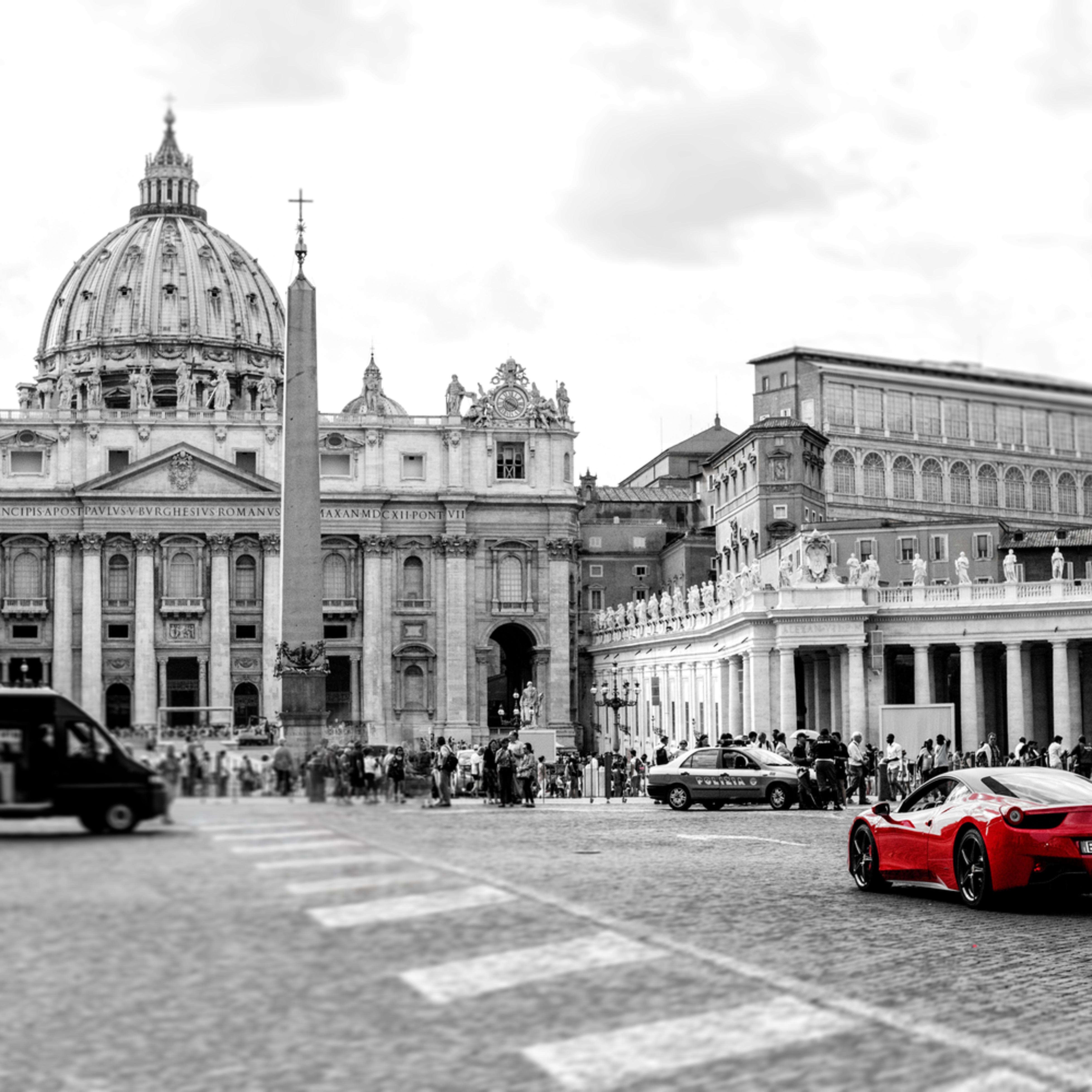 Ferrari at the vatican color corrected gkhvu6