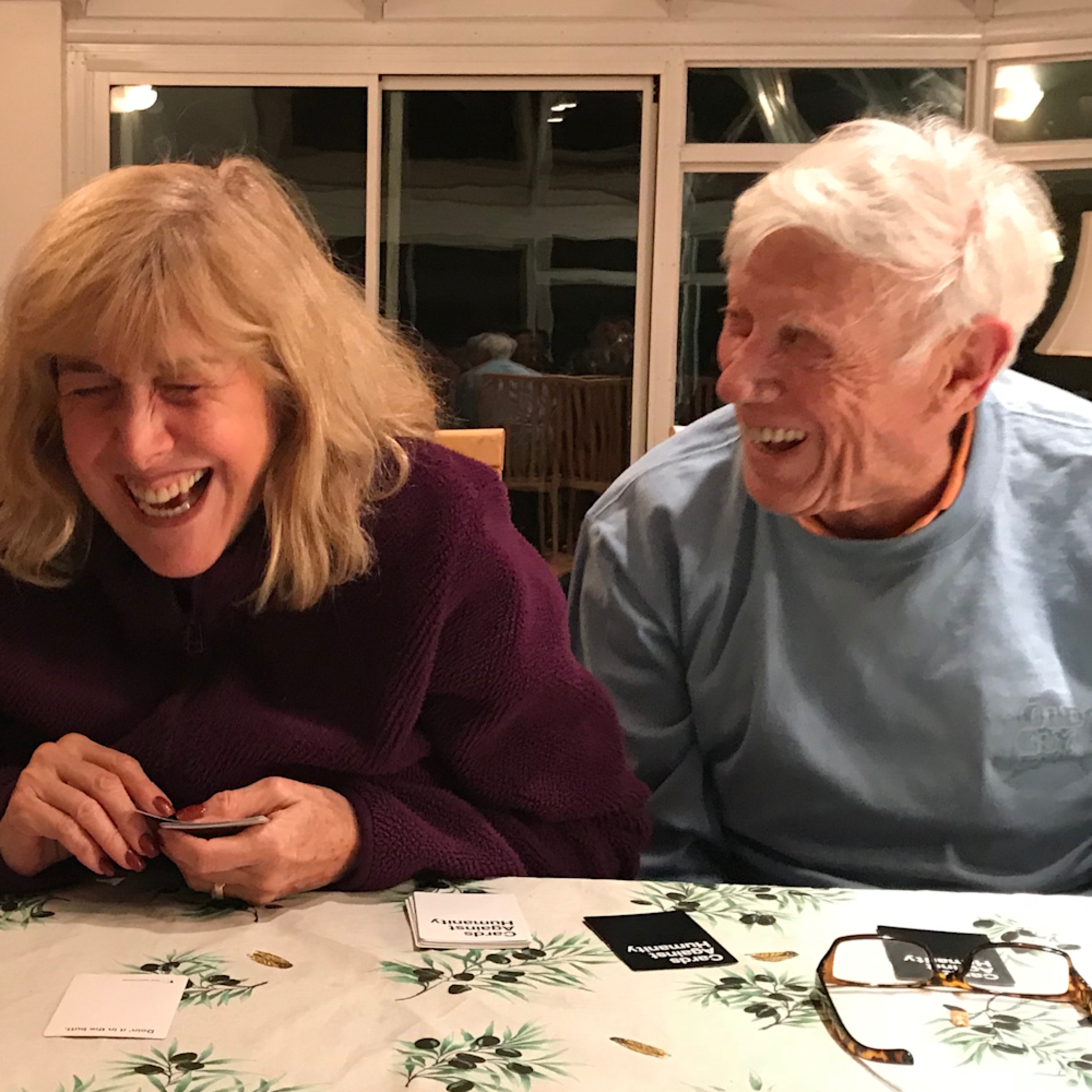 Marci brockmann laughing at cards lzj2fk